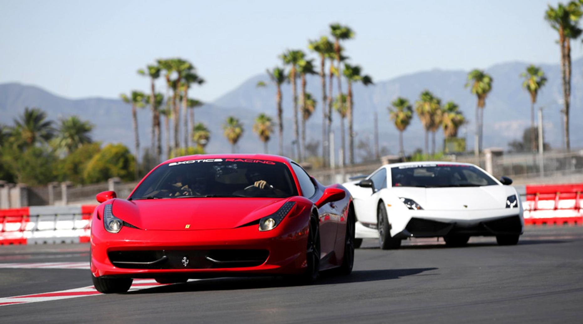 Los Angeles Race Car Driver Experience with a Lamborghini