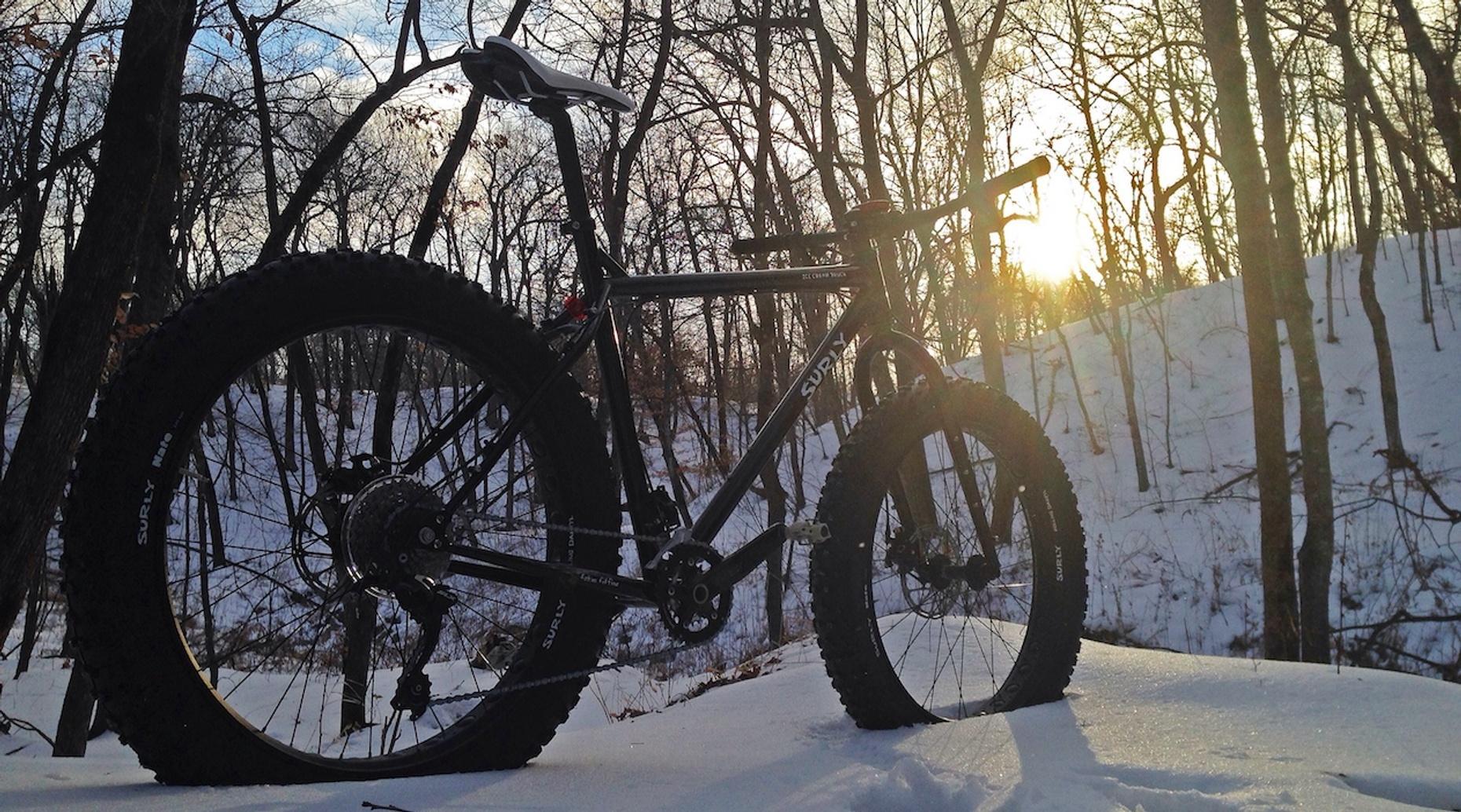 Winter Fat Bike Tour in Reads Landing