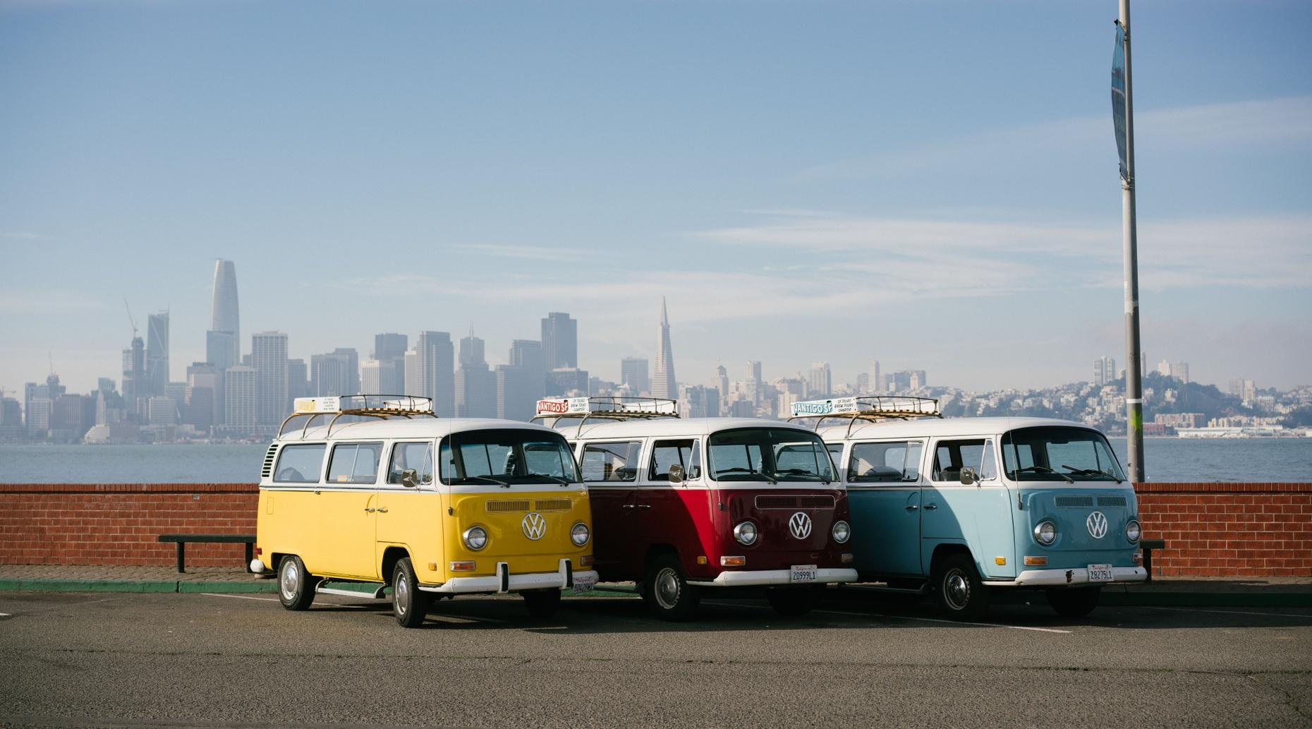 San Francisco Guided Tour in a Classic VW Van