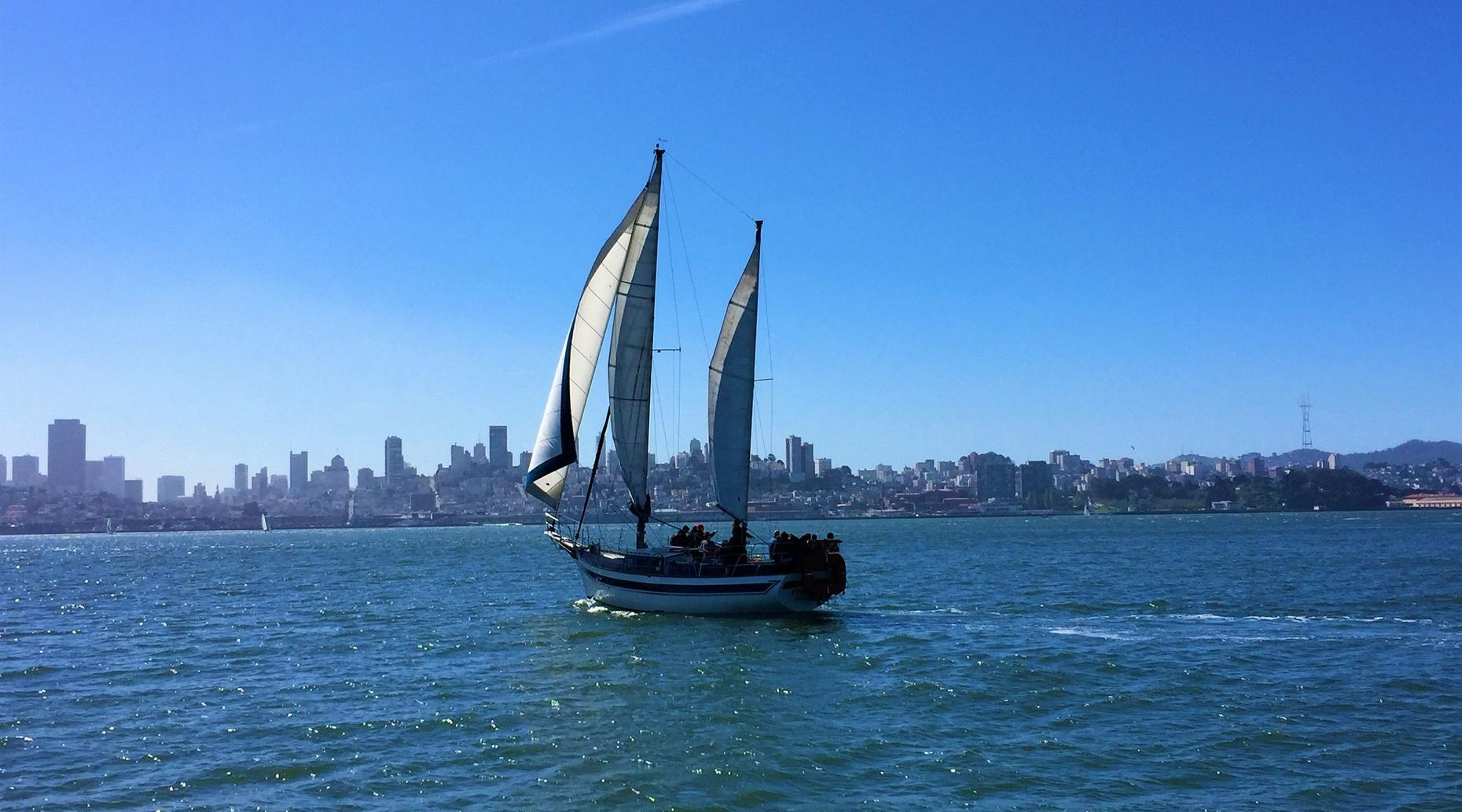 Golden Gate Bridge Champagne and Mimosa Sail
