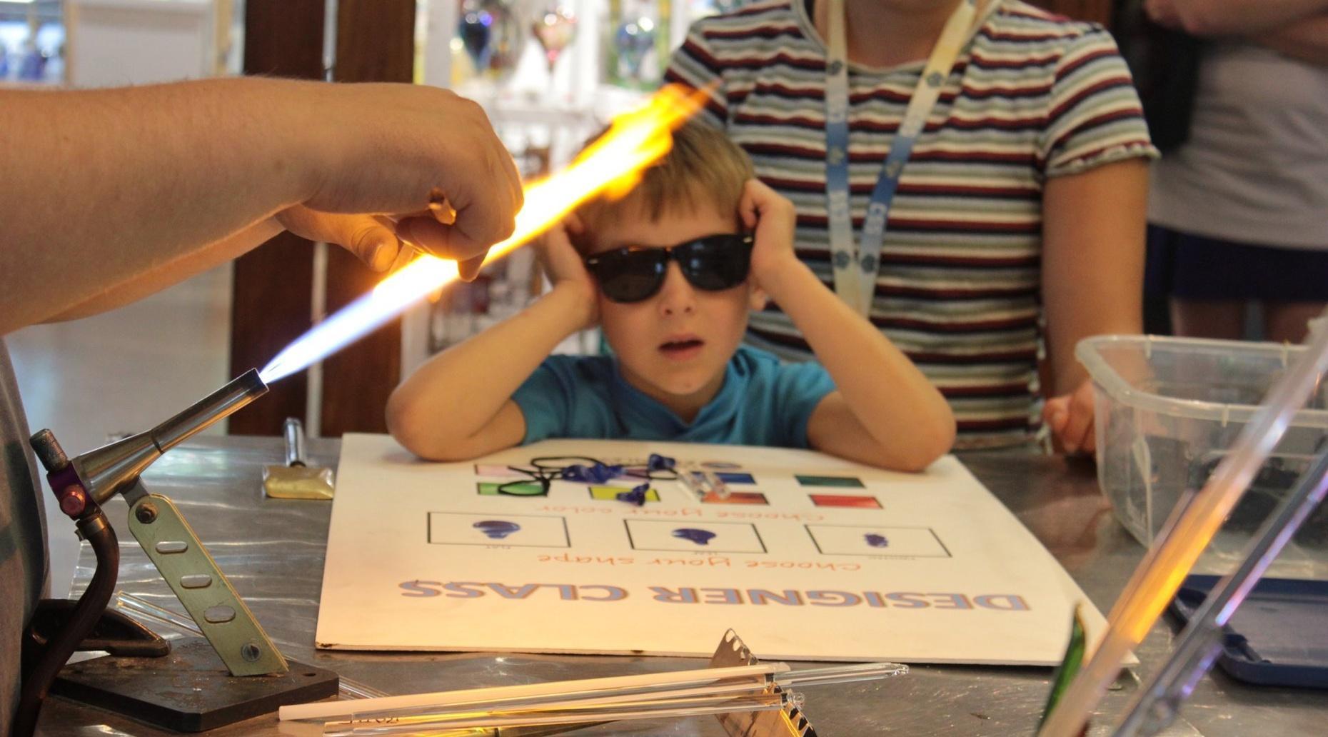 Kids Glasswork Pendant Class in Duluth