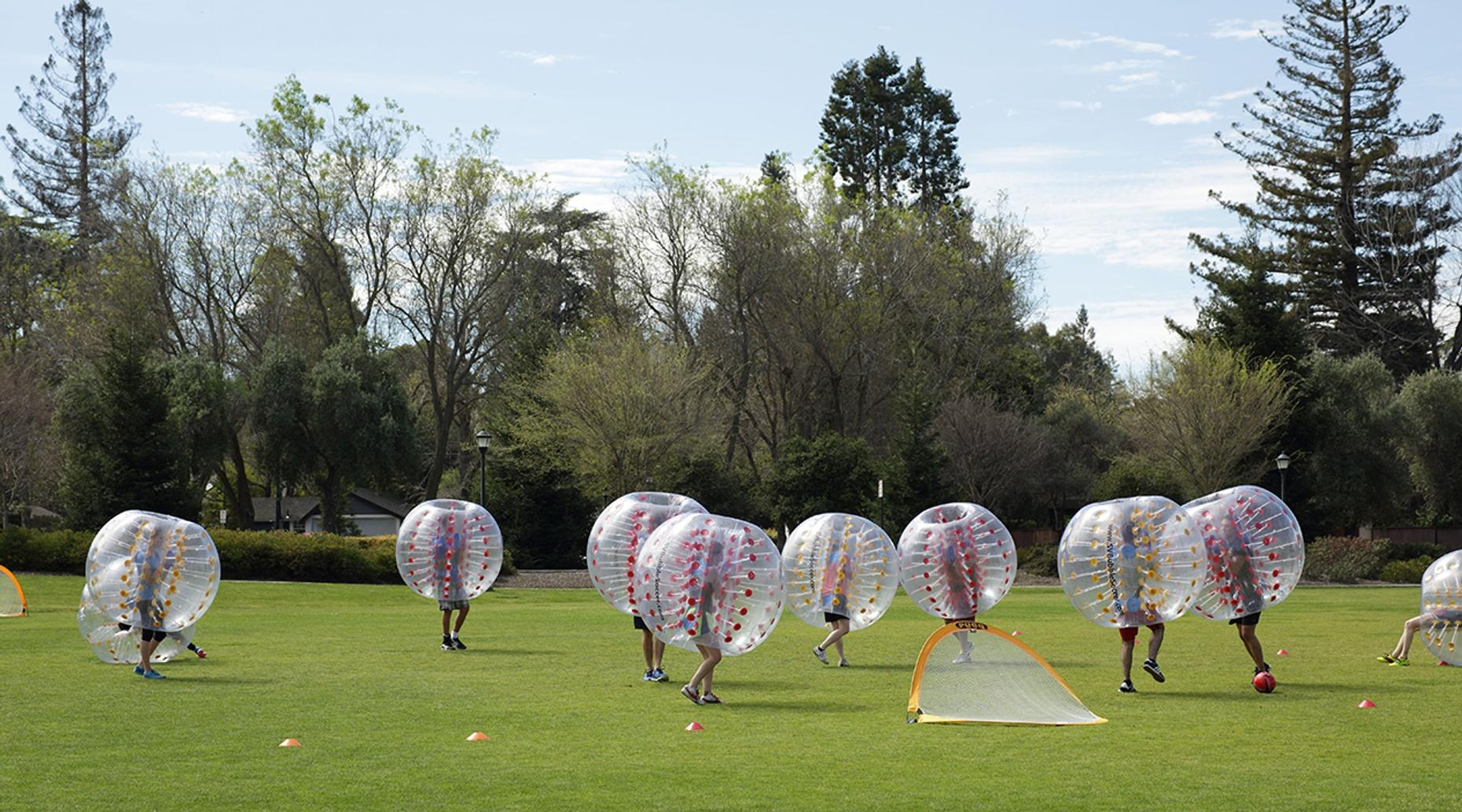 Hour and a Half Bubble Soccer Game in Richmond