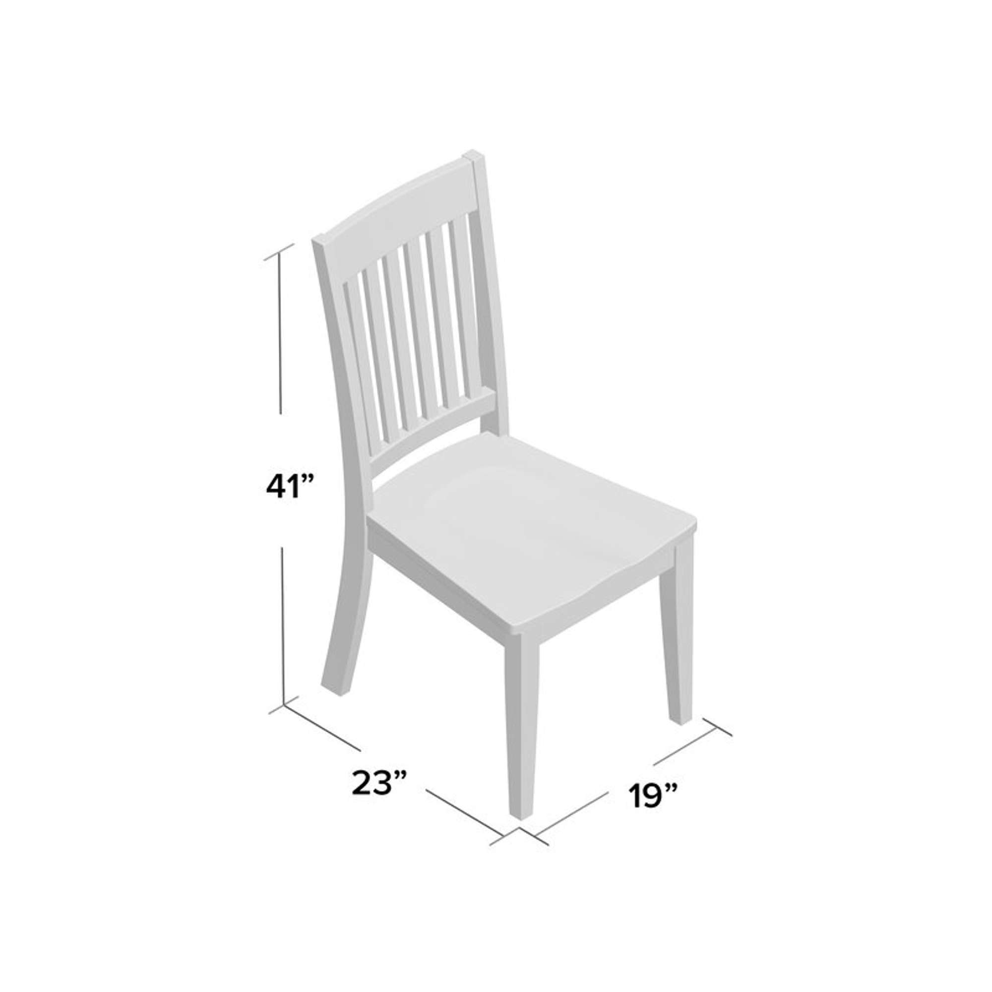 Gracie Oaks Ridgley Solid Wood Slat Back Side Chair Loveseat Online Auctions Los Angeles