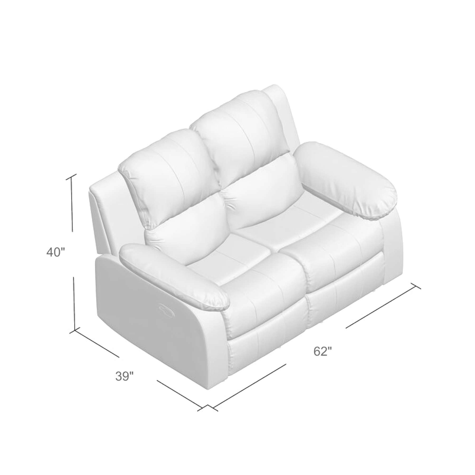 Malec Reclining 60 Pillow Top Arms Loveseat Loveseat Online Auctions San Diego