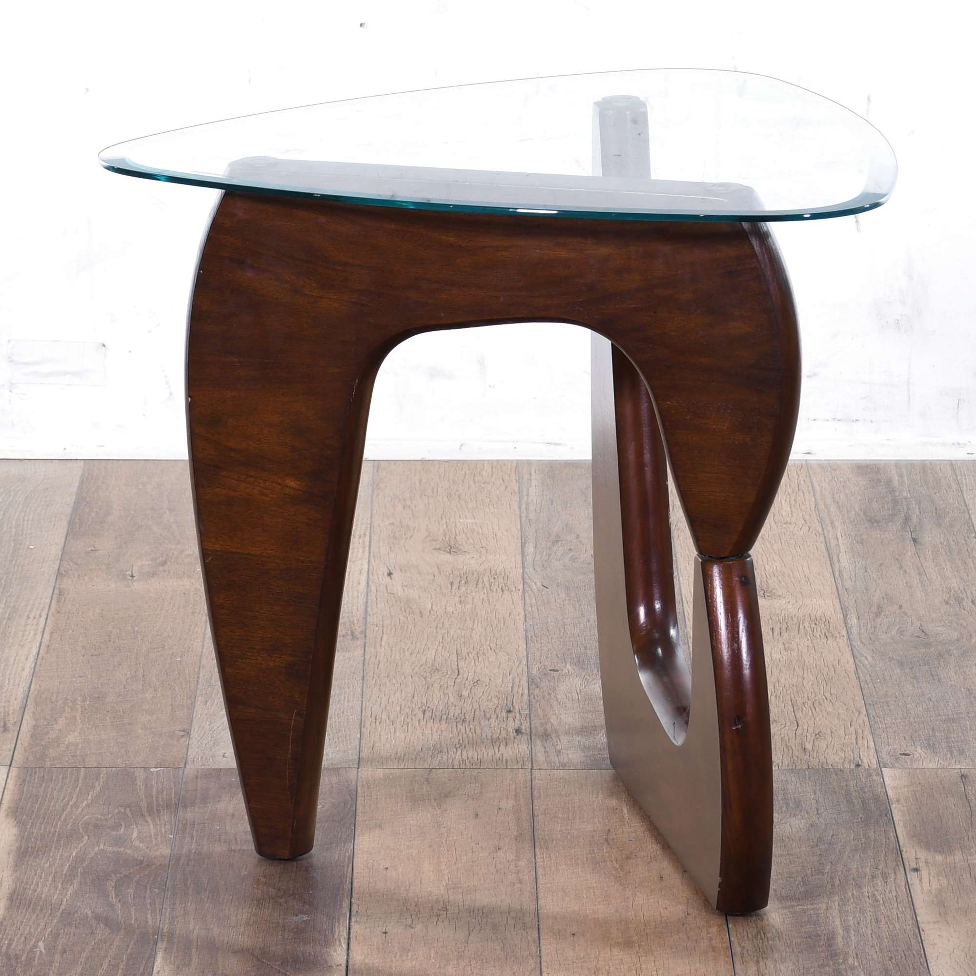 Contemporary Noguchi Style End Table W Glass Top Loveseat Online Auctions Los Angeles