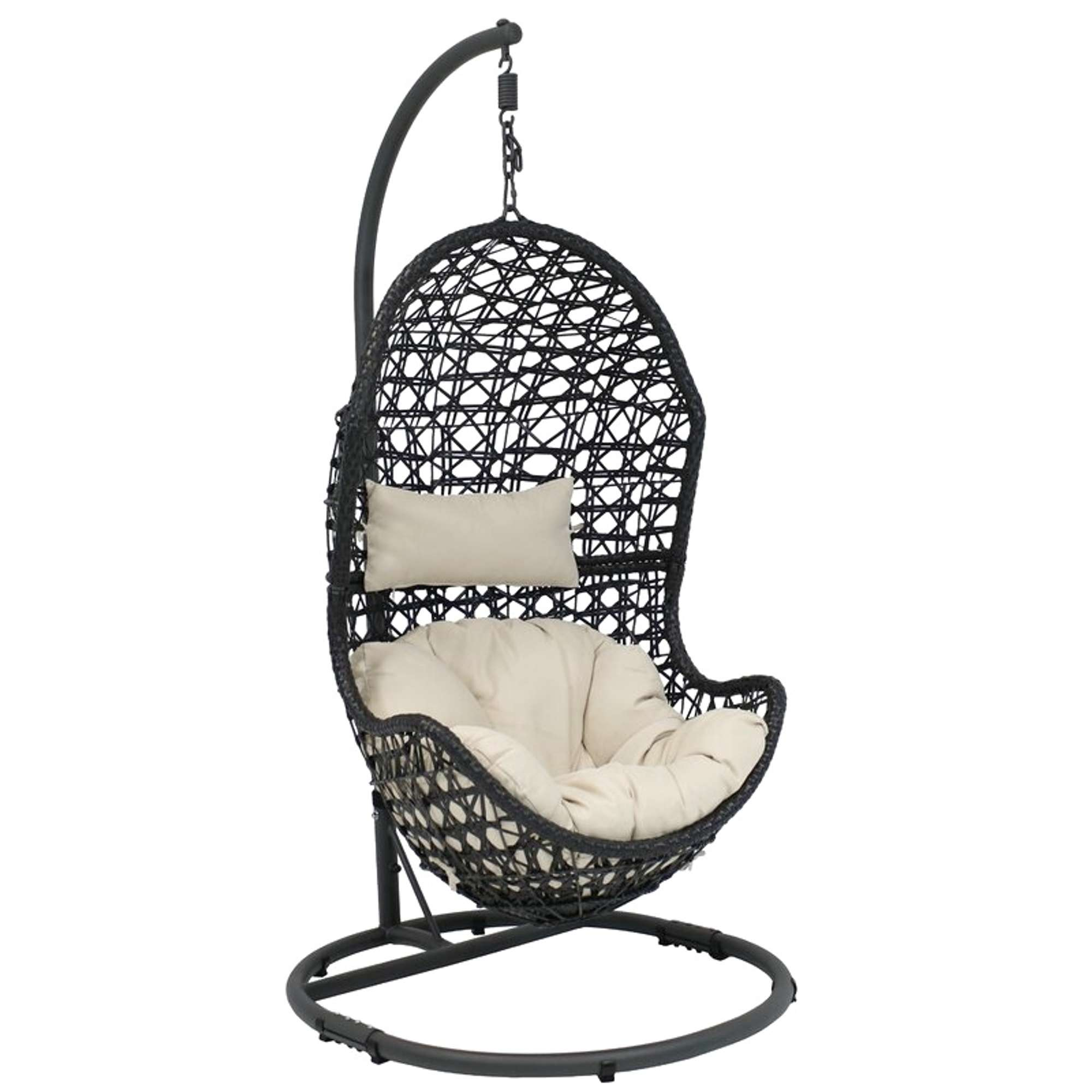 Beige Abrams Hanging Egg Chair Hammock W/ Stand 2 ...