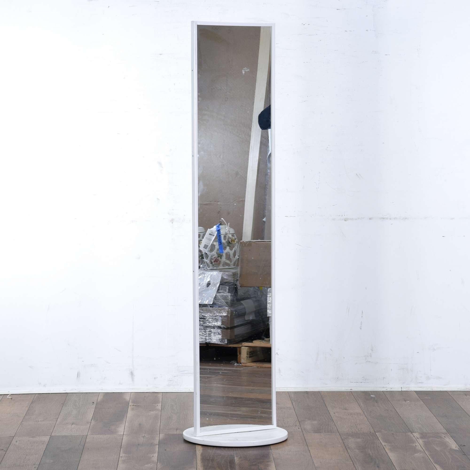 Ikea White Vennesla Floor Mirror Loveseat Online Auctions Los Angeles