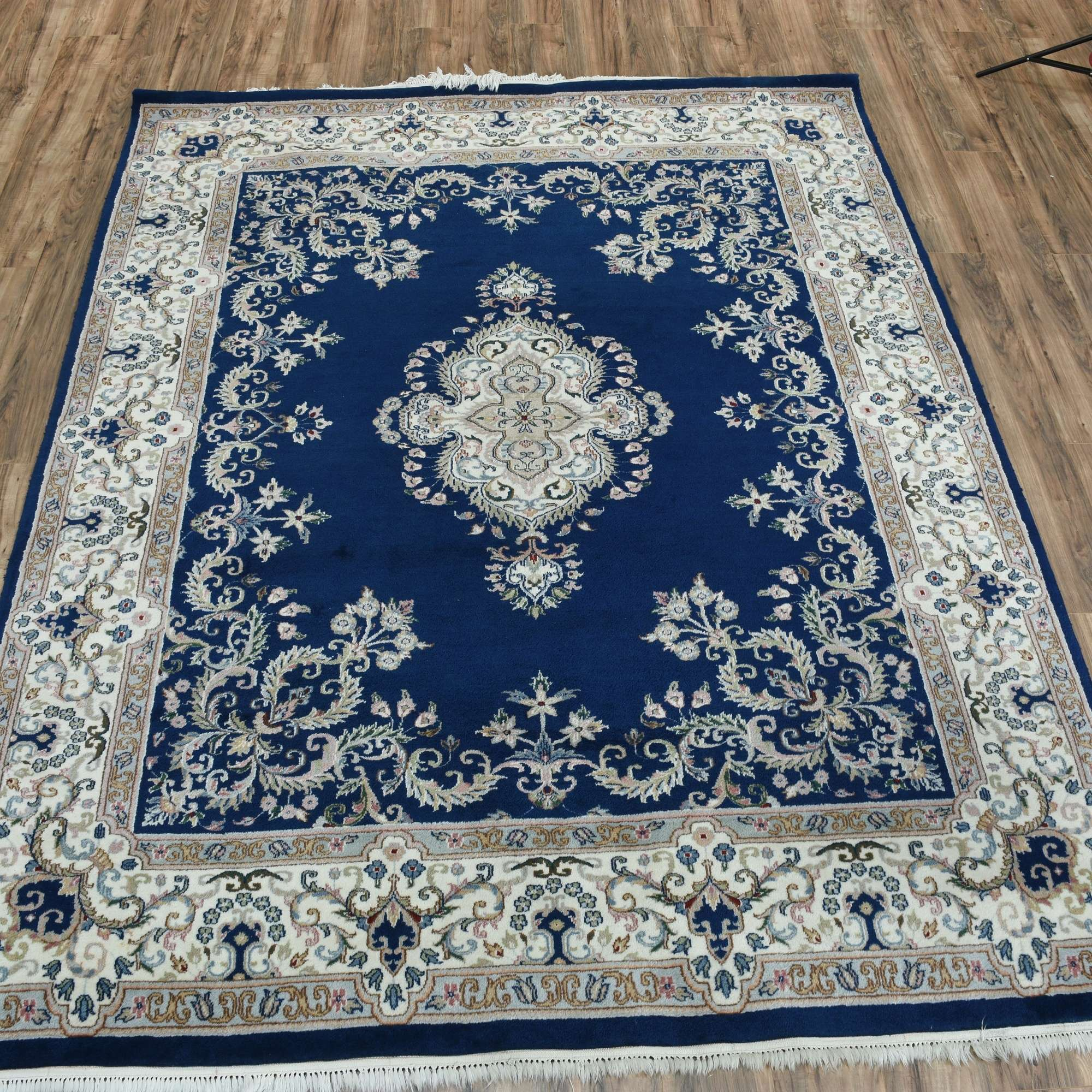 Navy Blue 8x10 Area Rug W Floral Pattern Loveseat Online Auctions San Diego
