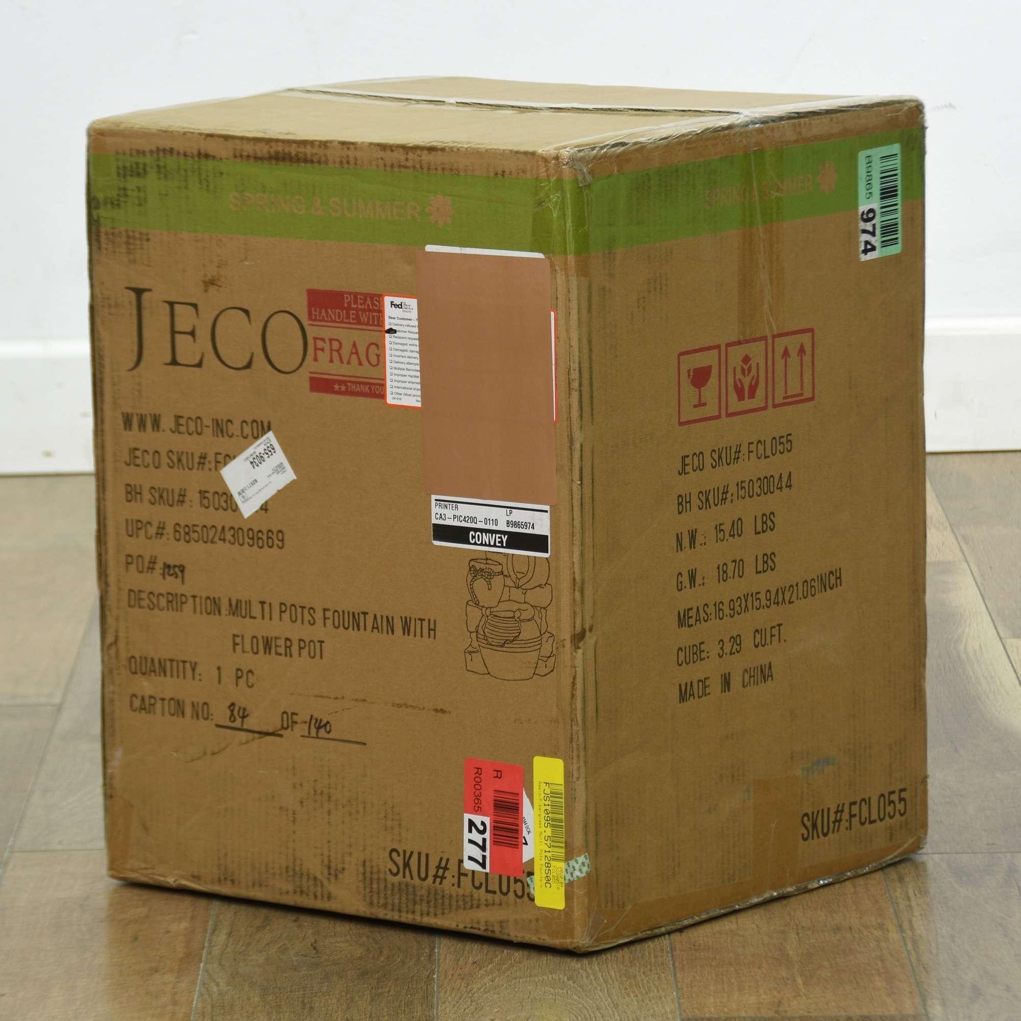 Jeco Inc Resin Fiberglass Multi Pots Fountain Loveseat Online Auctions San Diego