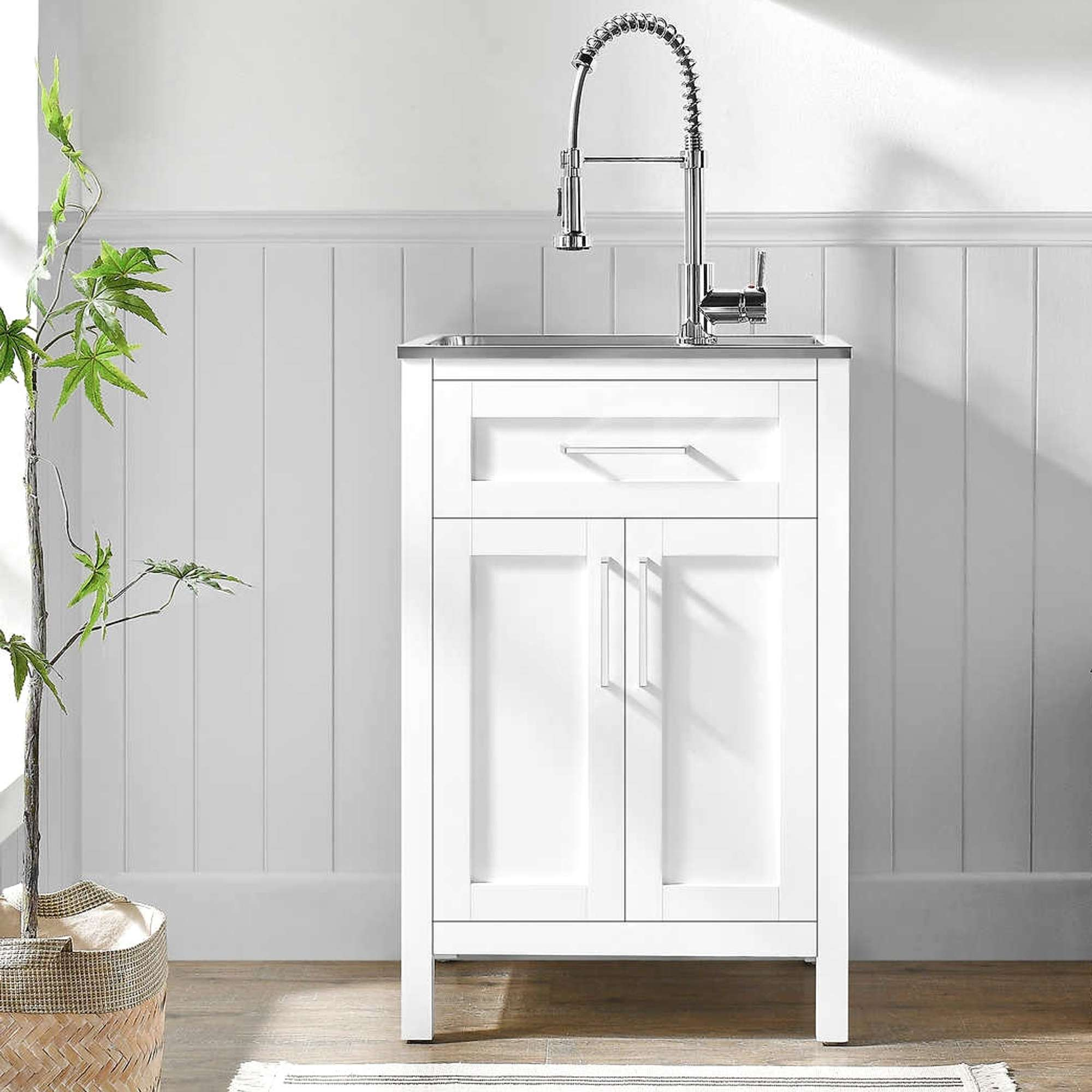 New Ove Paloma 22 Utility Sink With Faucet Cabinet 2 Loveseat Online Auctions San Diego