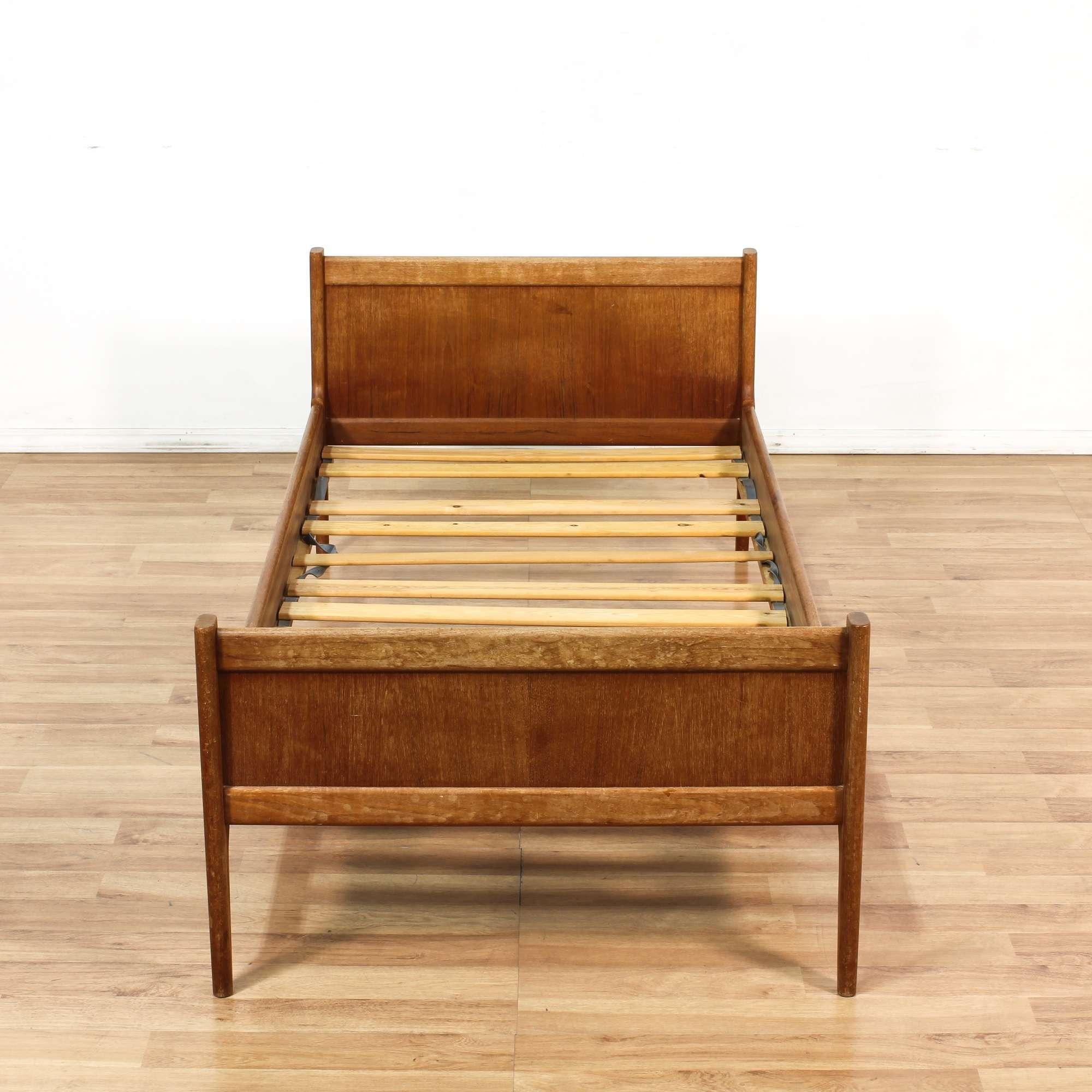 Danish Modern Teak Twin Bed Frame | Loveseat Vintage Furniture Los ...
