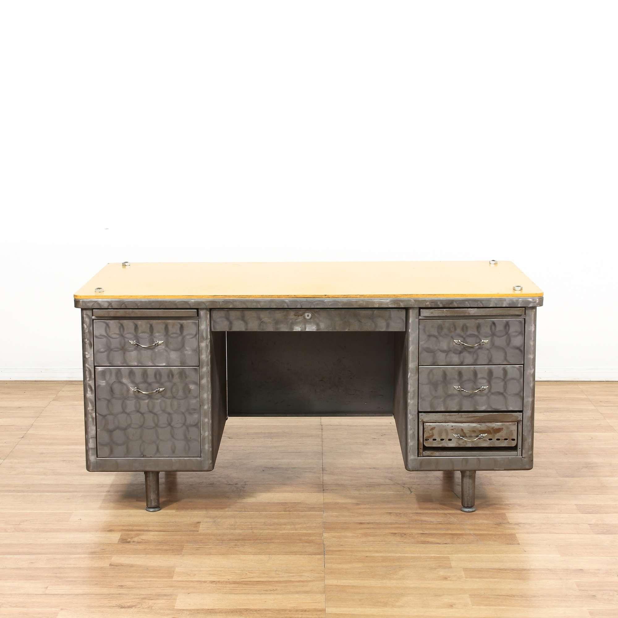 Steelcase Brushed Metal Tanker Desk 5 Loveseat Vintage Furniture Los Angeles