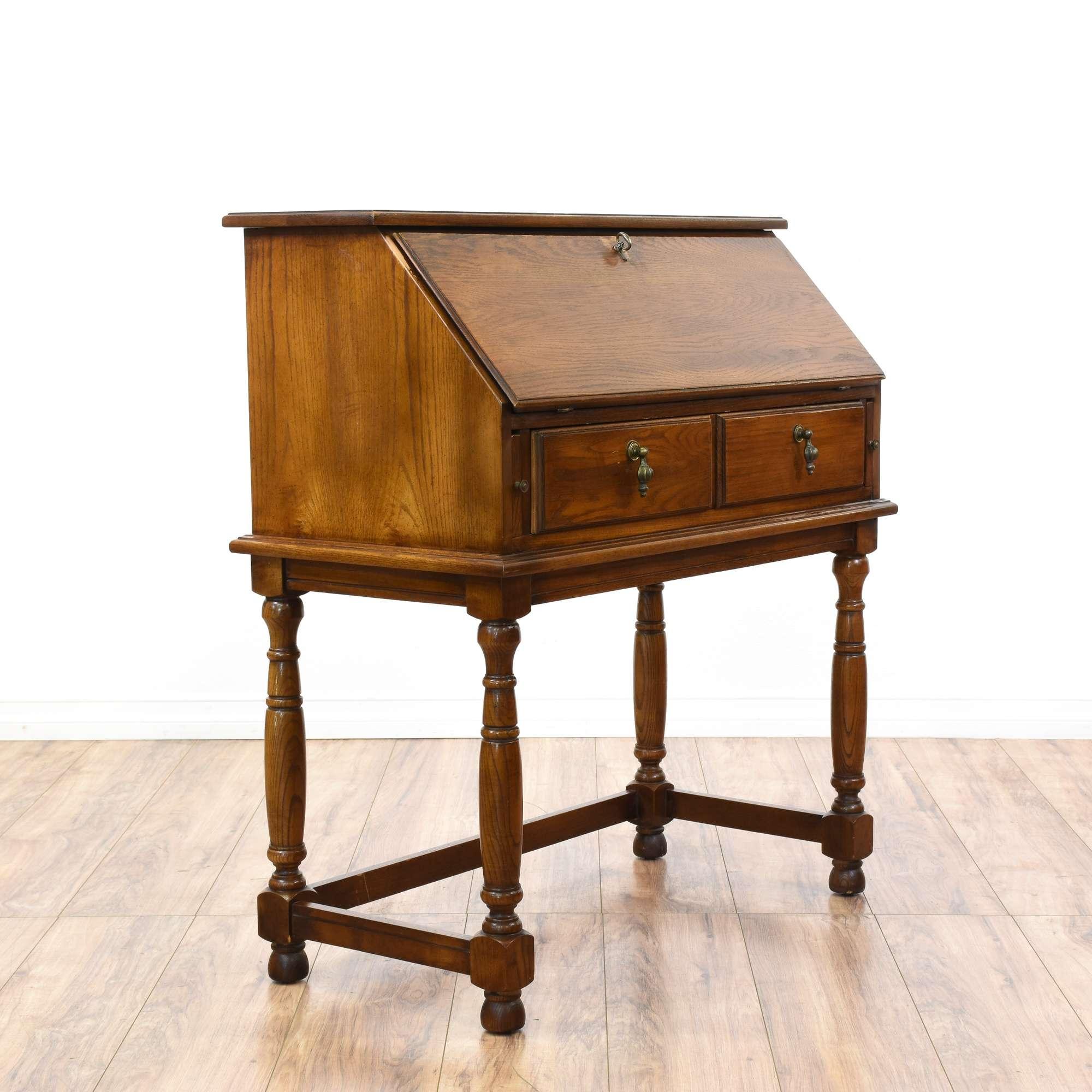 vintage i los furniture slant angeles front loveseat edwardian desk secretary