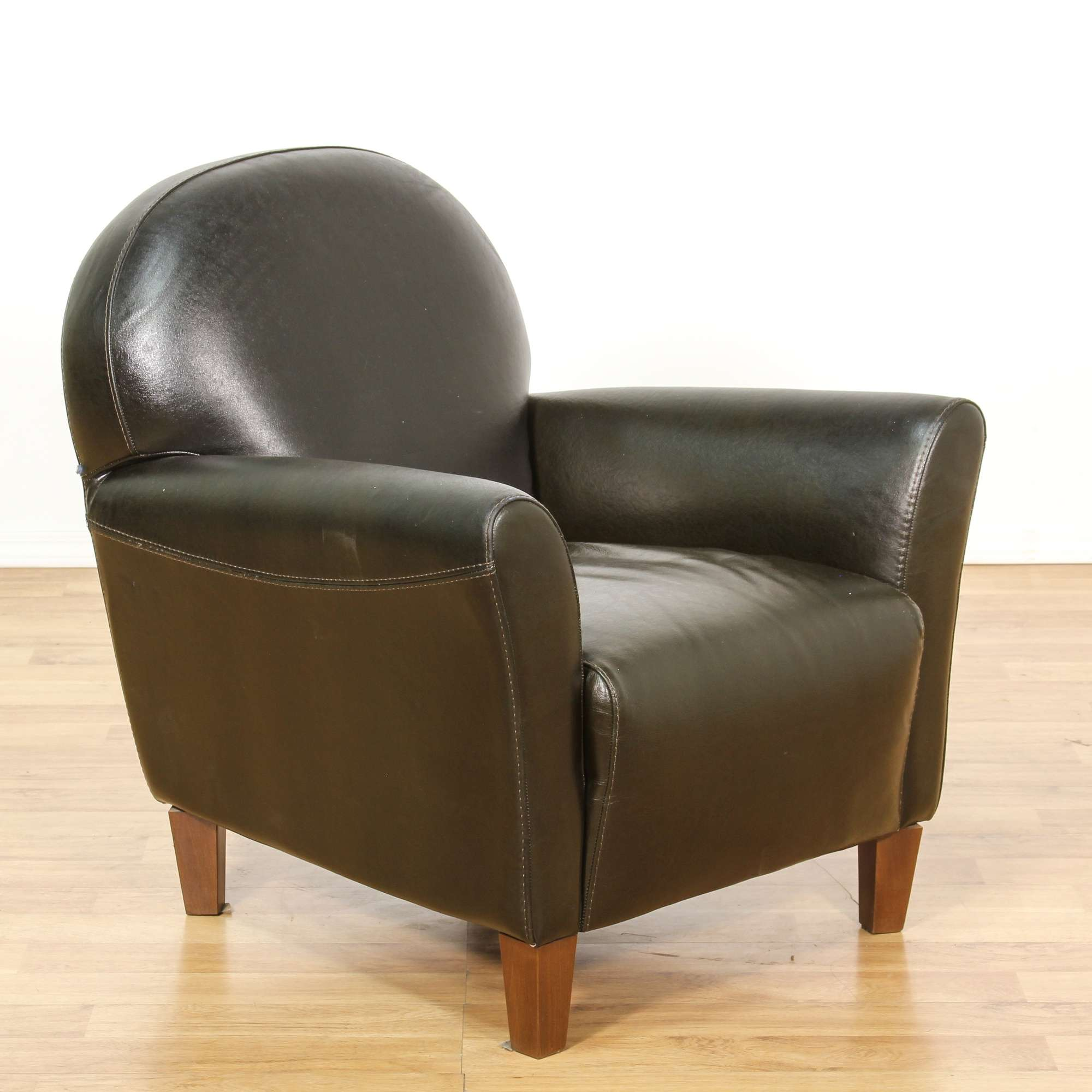 chair black real back room parson leather chairs in dining