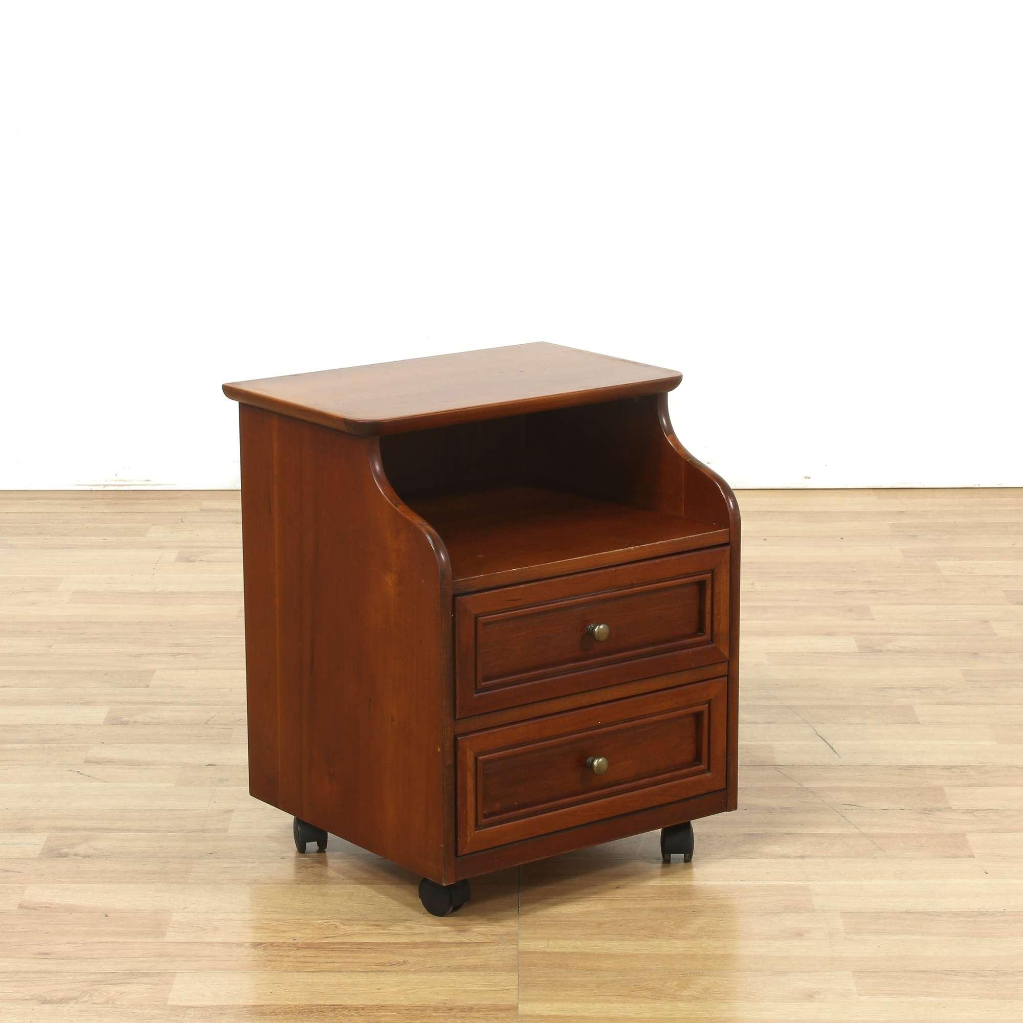 Stanley Maple 2 Drawer Nightstand W Shelf Loveseat