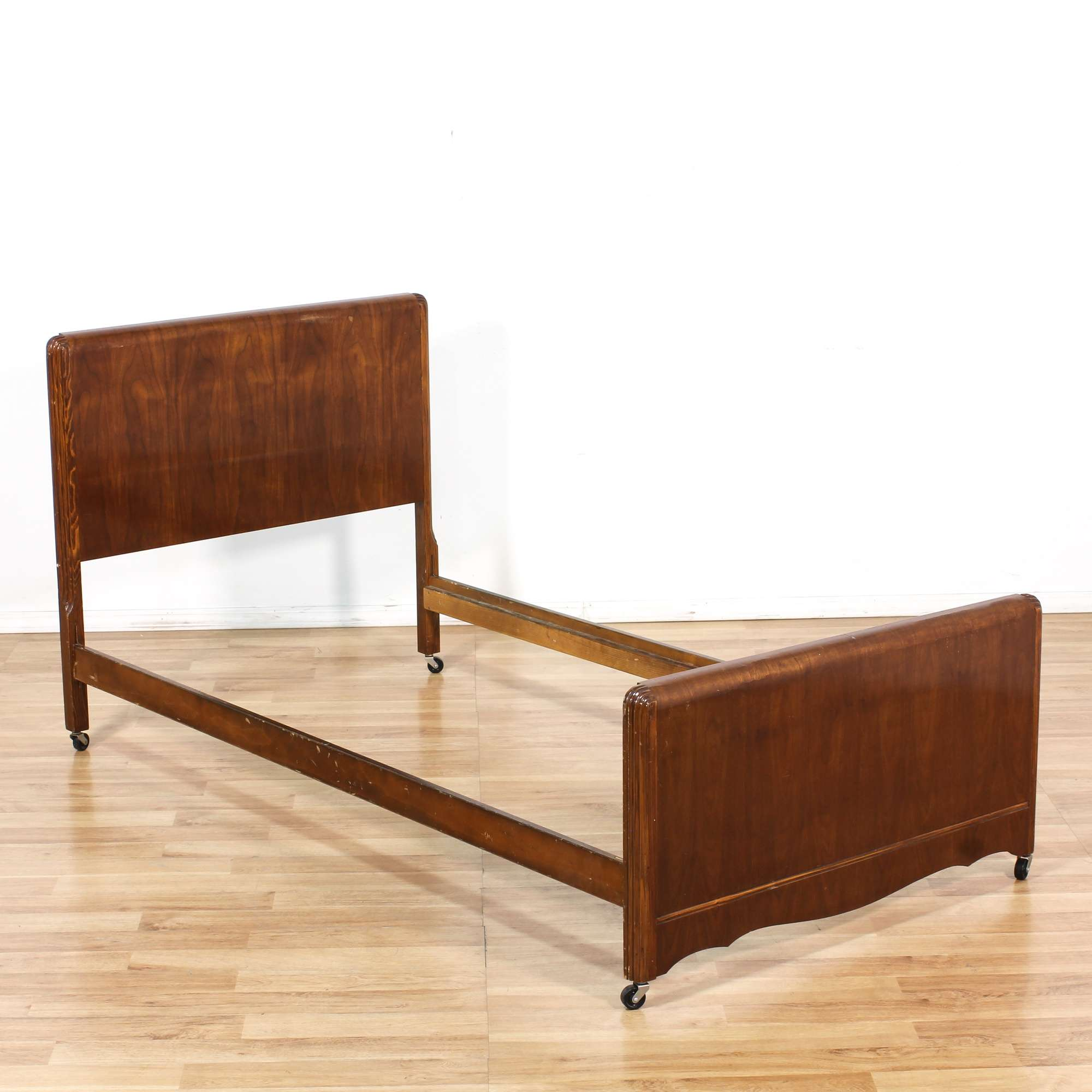 Art Deco Twin Bed Frame | Loveseat Vintage Furniture Los Angeles