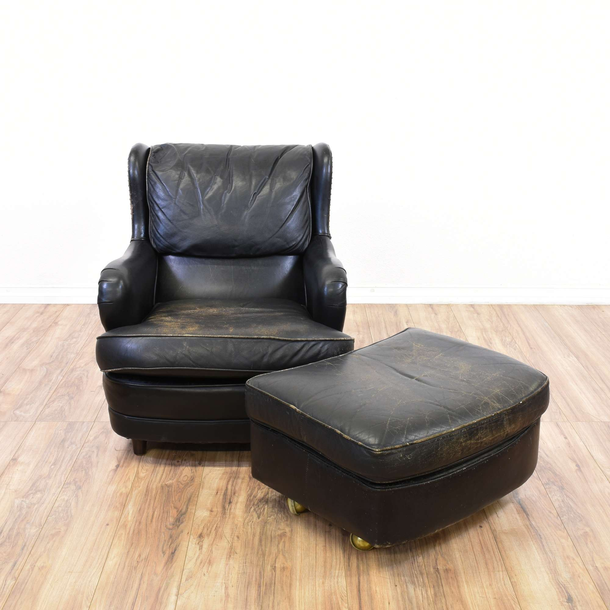Admirable Schafer Brothers Distressed Leather Armchair Machost Co Dining Chair Design Ideas Machostcouk