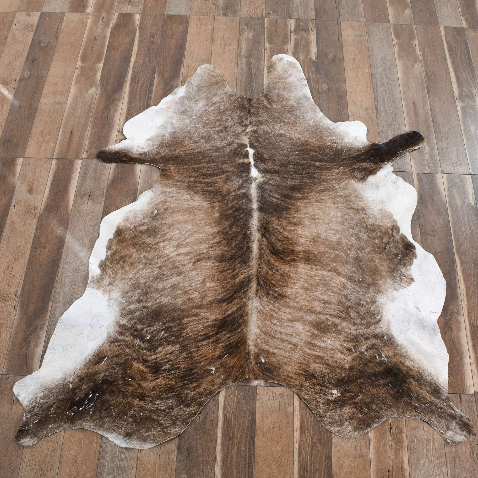 Ikea Koldby Brown Brindle Cowhide Rug