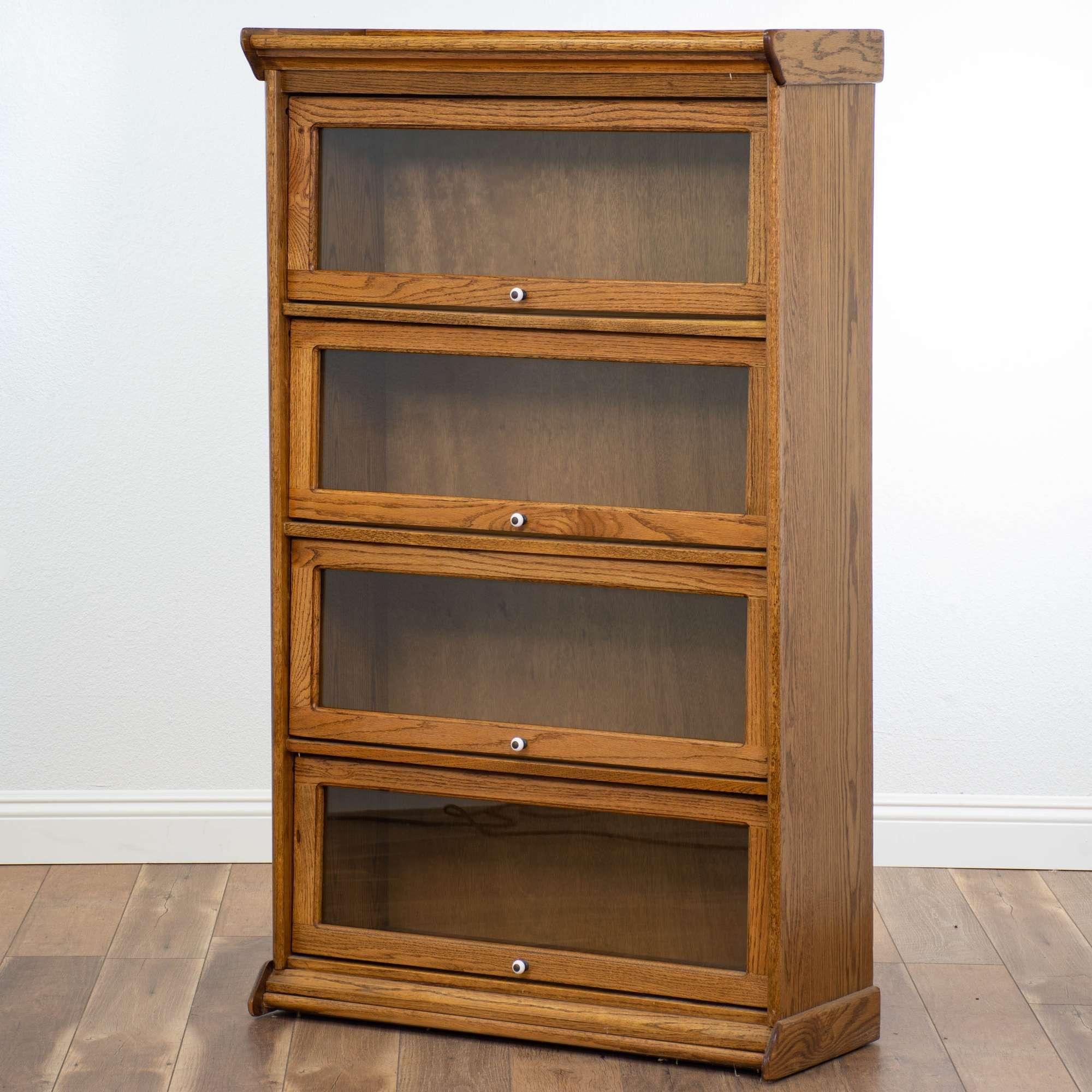 Solid Oak Lawyer S Barrister Bookcase Loveseat Vintage