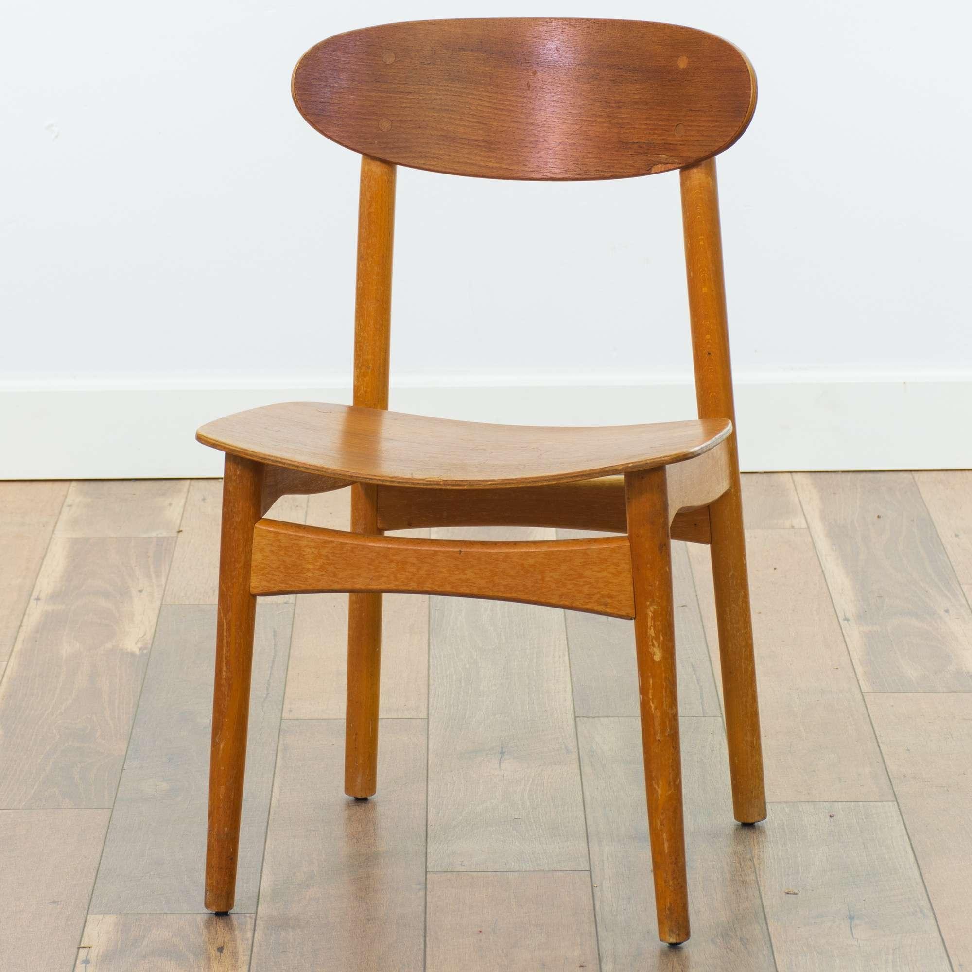 Superb Danish Modern Curved Back Dining Chair Loveseat Vintage Machost Co Dining Chair Design Ideas Machostcouk