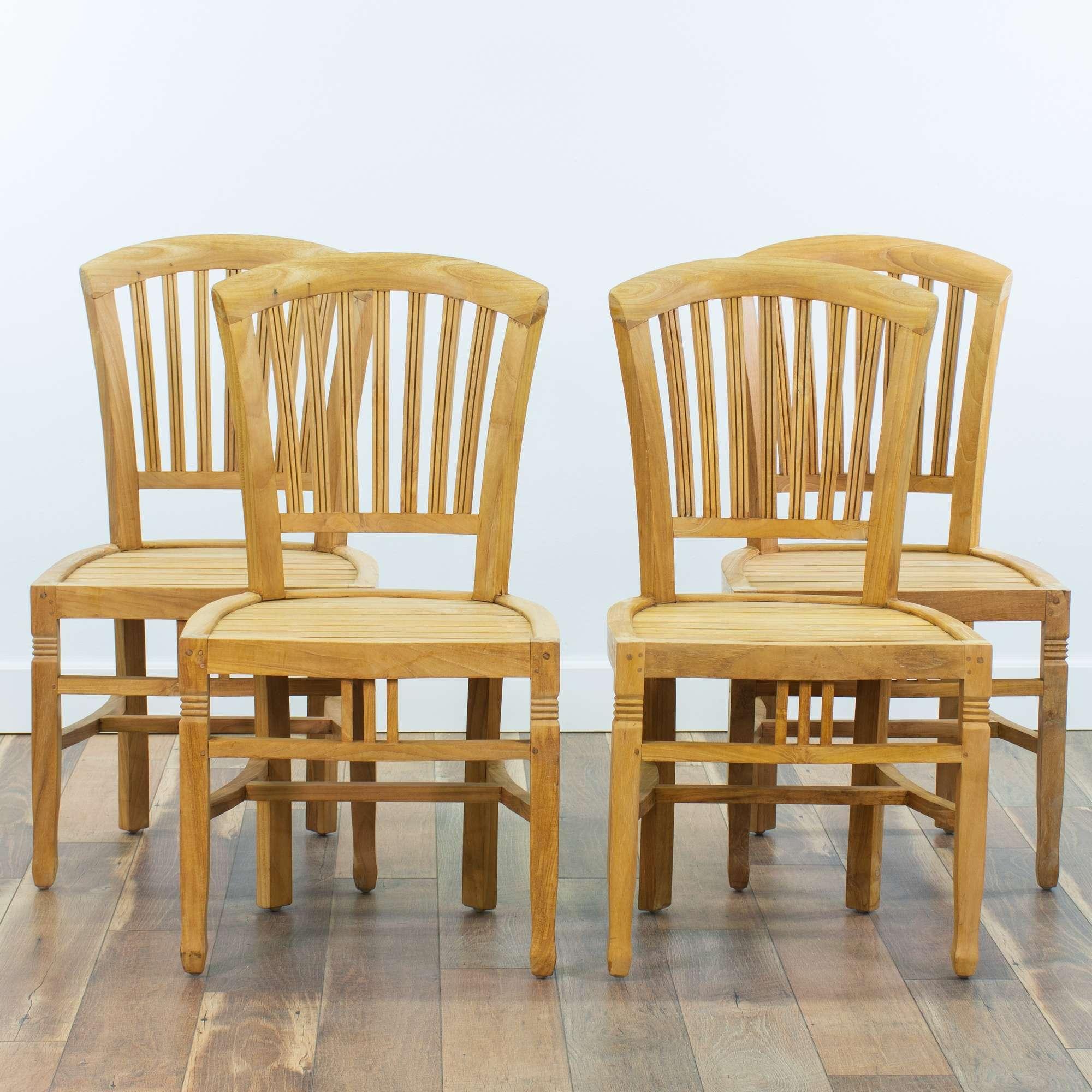 Teak Patio Furniture Los Angeles.Set Of 4 Chic Teak Patio Chairs Loveseat Vintage Furniture San Diego