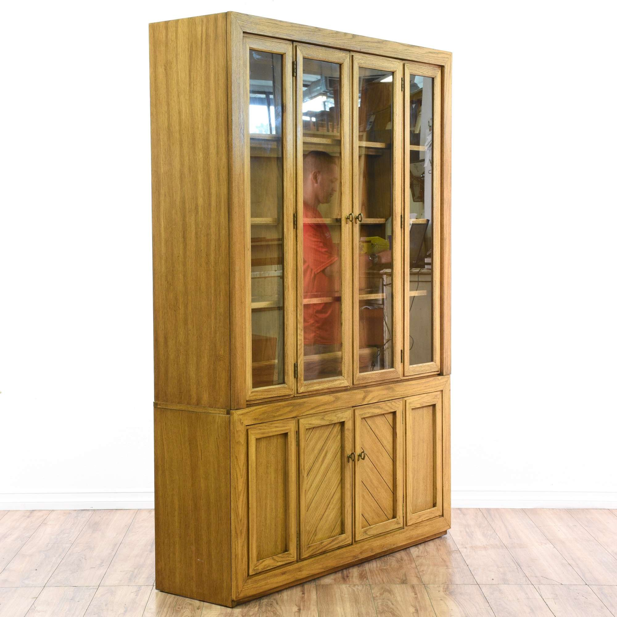 broyhill attic china heirlooms cabinet product chairish oak