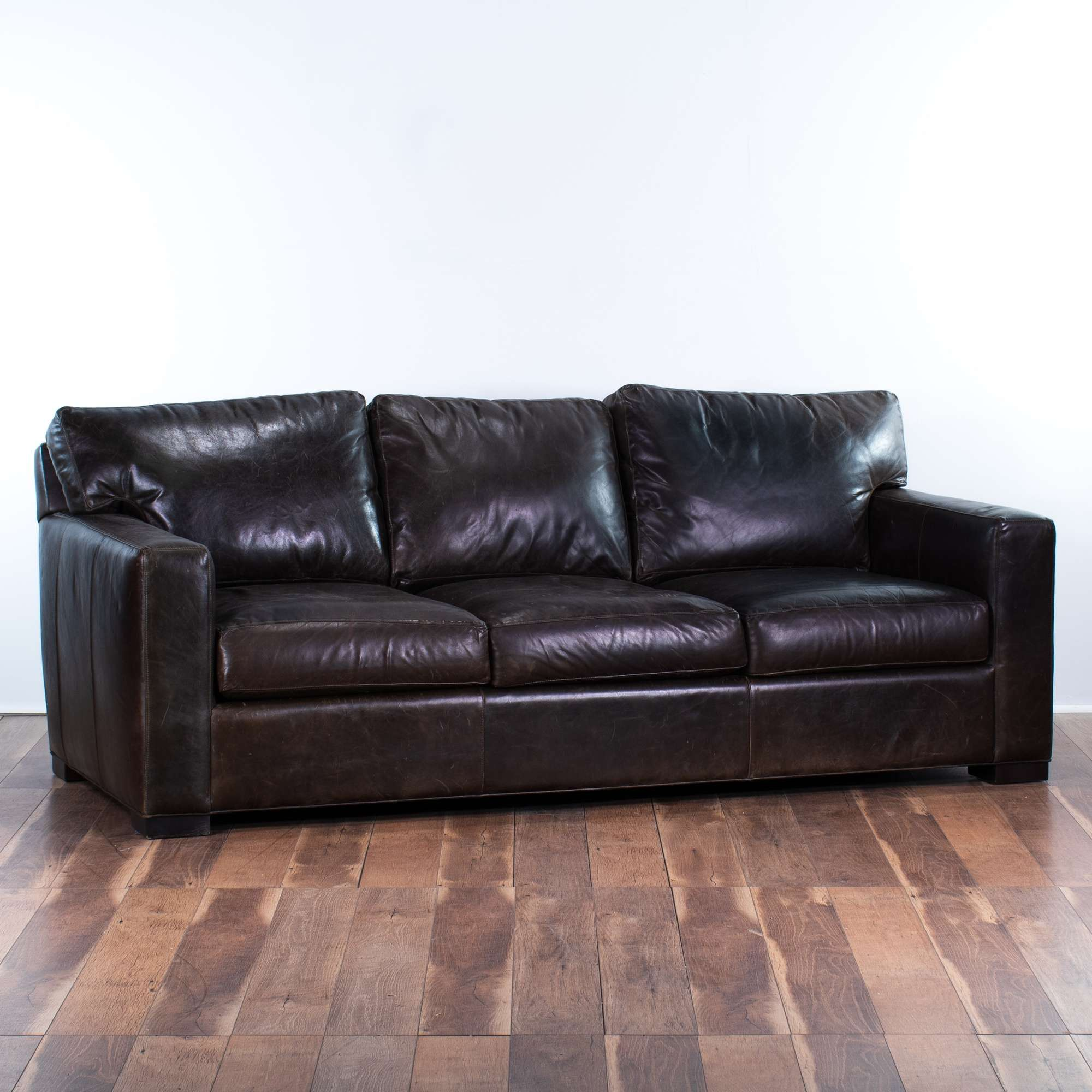 Remarkable Crate Barrel Dark Brown Leather Sofa Loveseat Vintage Gmtry Best Dining Table And Chair Ideas Images Gmtryco