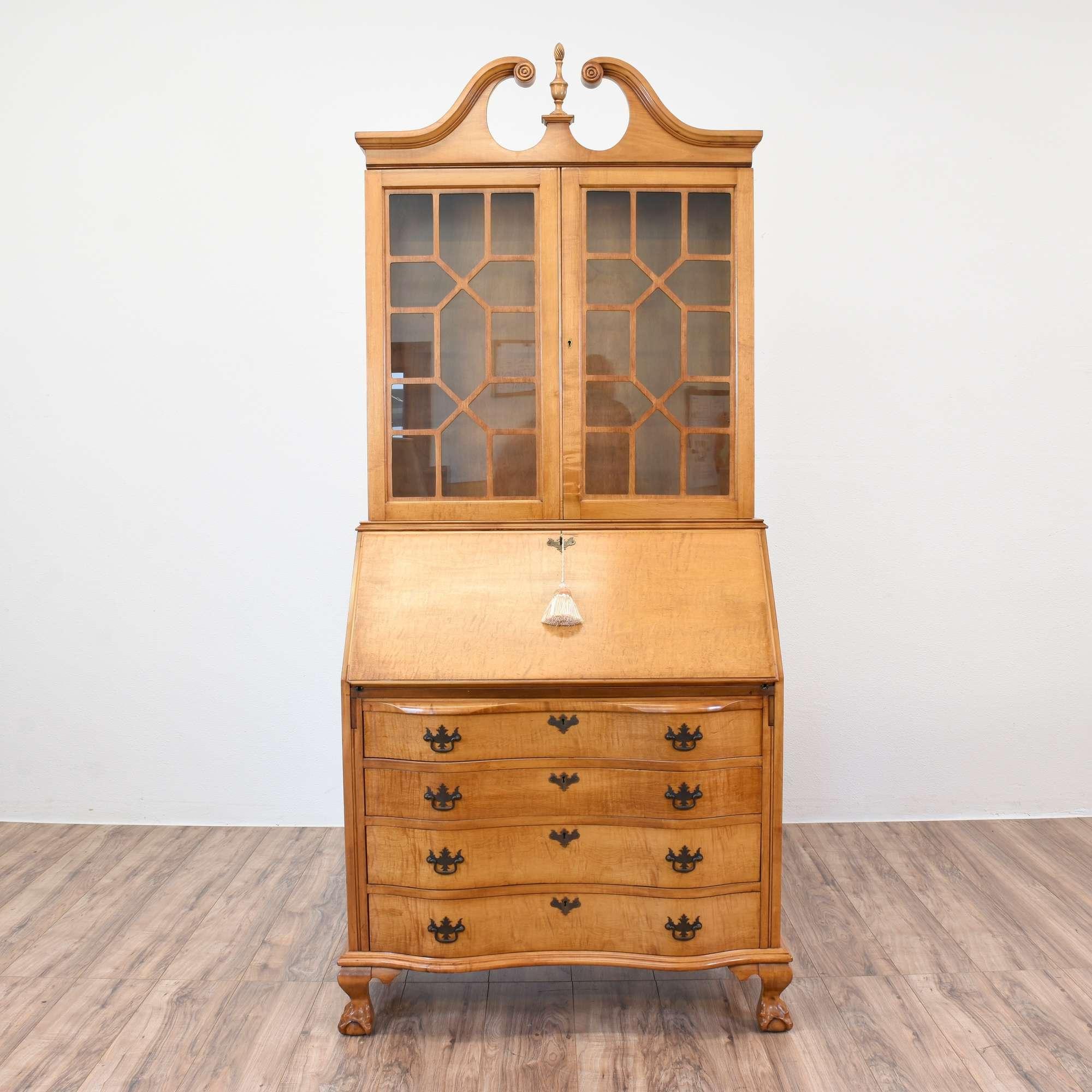 bookcase product free furniture desk mahogany shipping niagara secretary
