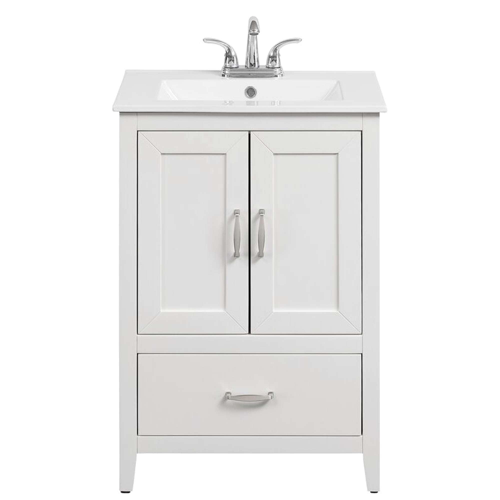 "Charlton Home White 24"" Single Bathroom Vanity Set ..."