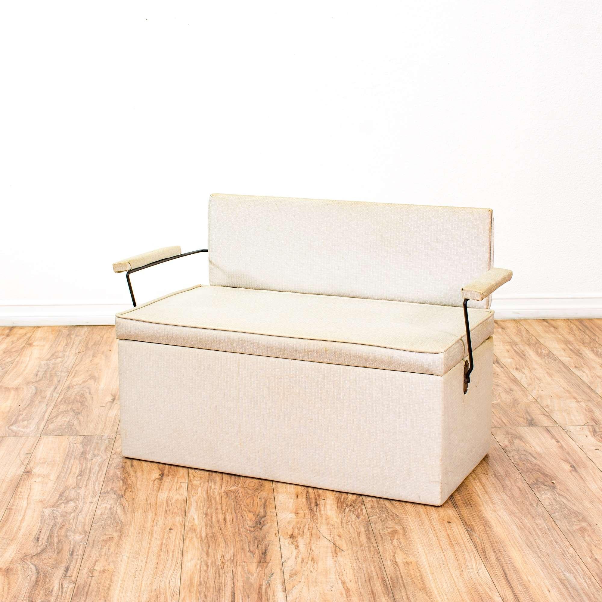 Mid Century Modern Childs Bench Toy Box Storage Chest -