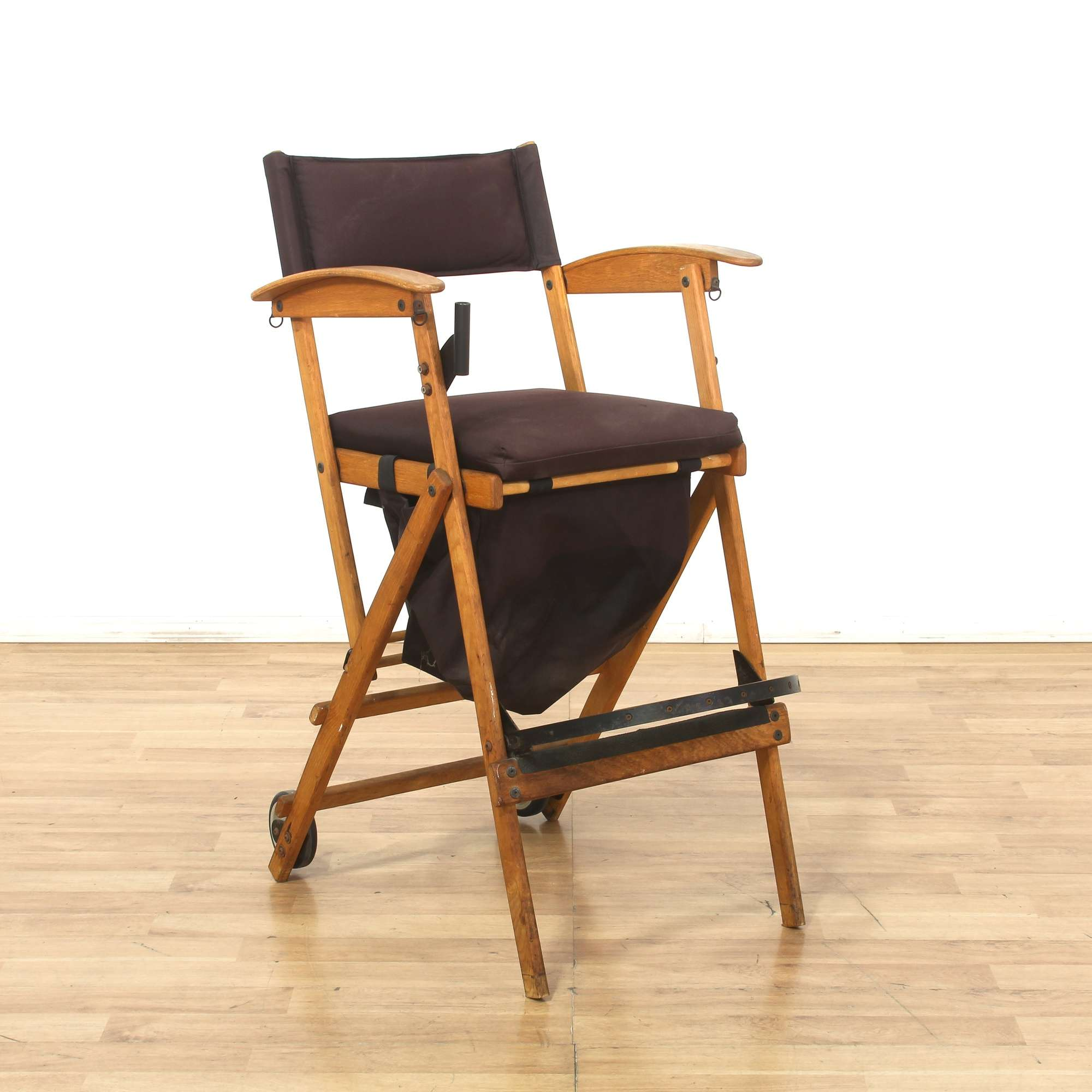 Hollywood Chairs Directors Chair W Back Wheels