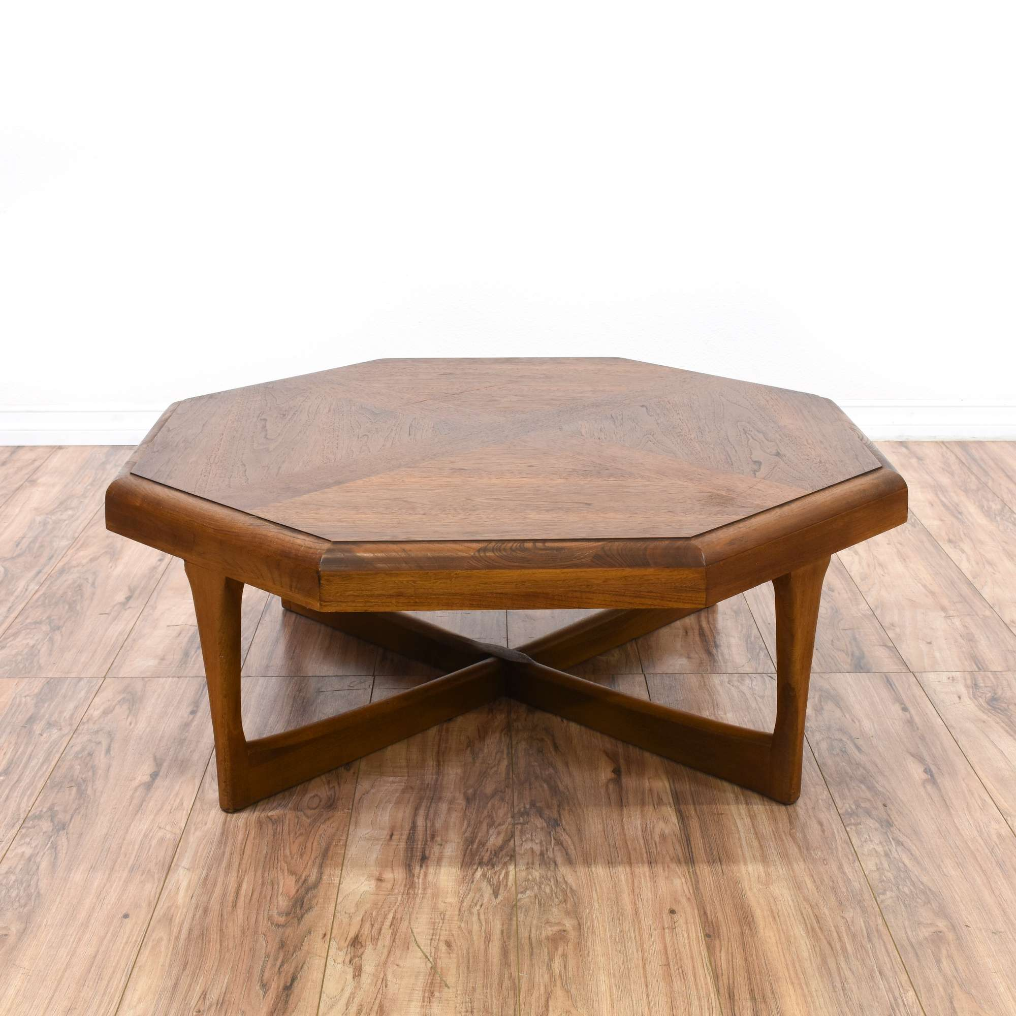 "Lane"" Mid Century Modern Octagon Coffee Table"