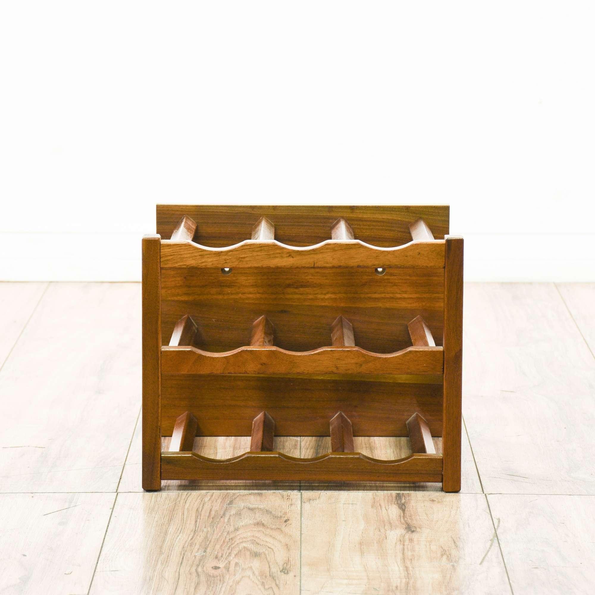 oak wooden holder wine wood bottle itm rack display stand racks countertop