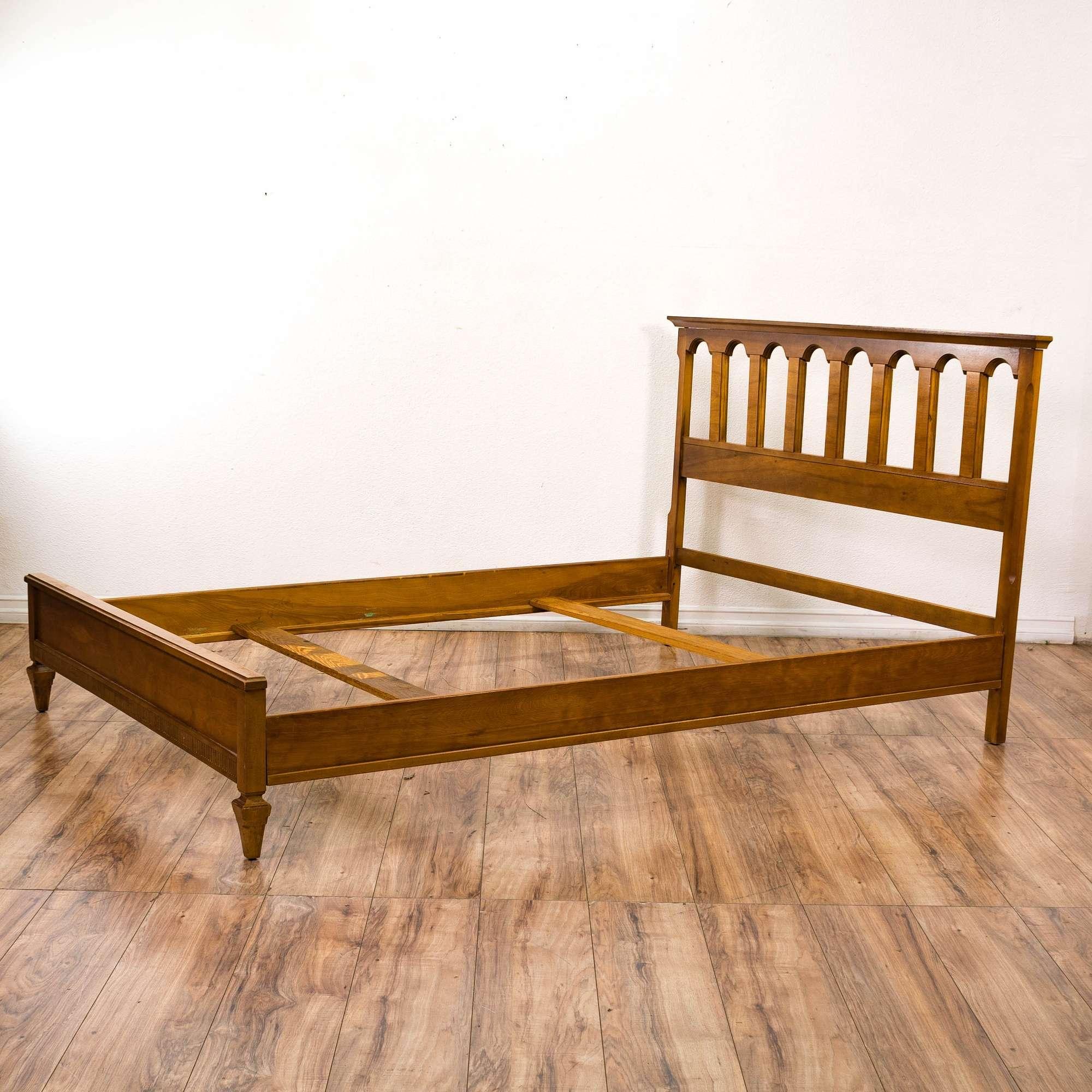 Traditional Full Size Arched Bed Frame | Loveseat Vintage Furniture