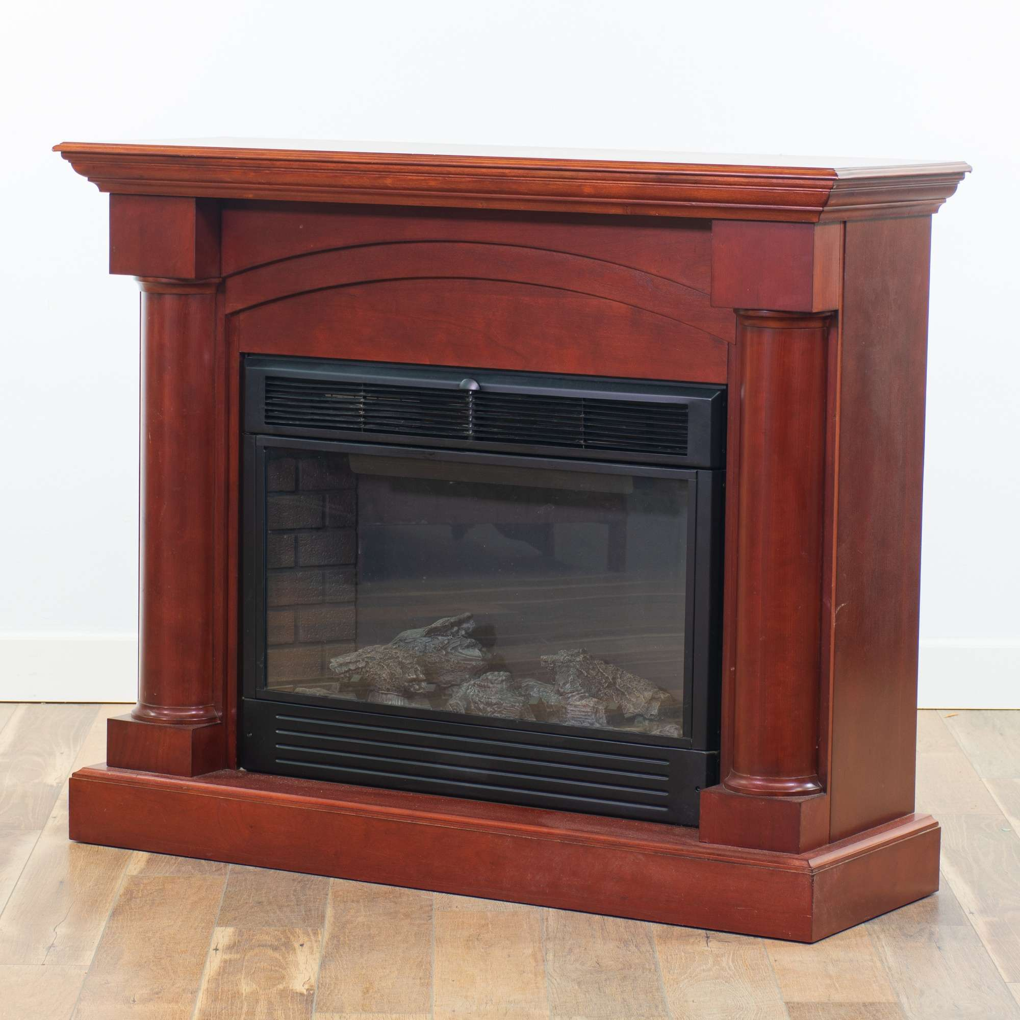 Electric 120v Fireplace Space Heater Loveseat Vintage