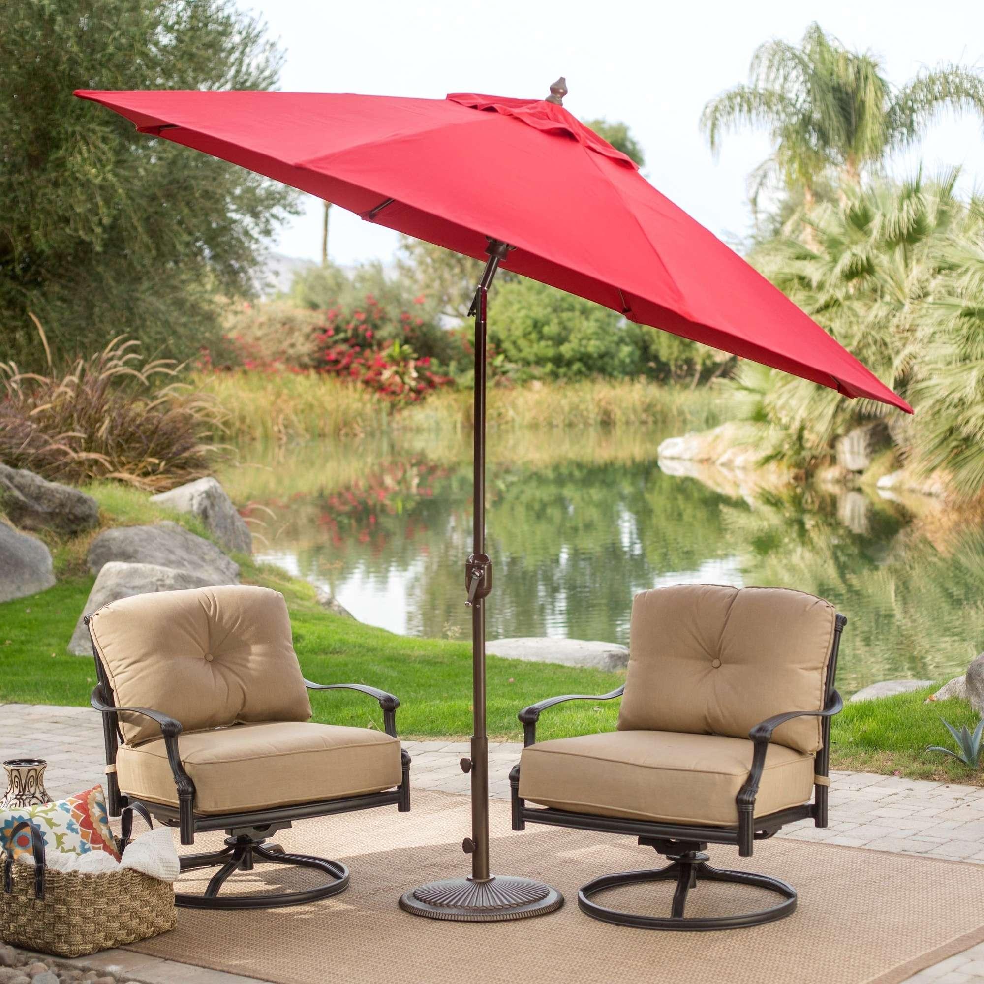 Belham Living Blue 9 Sunbrella Tilt Patio Umbrella