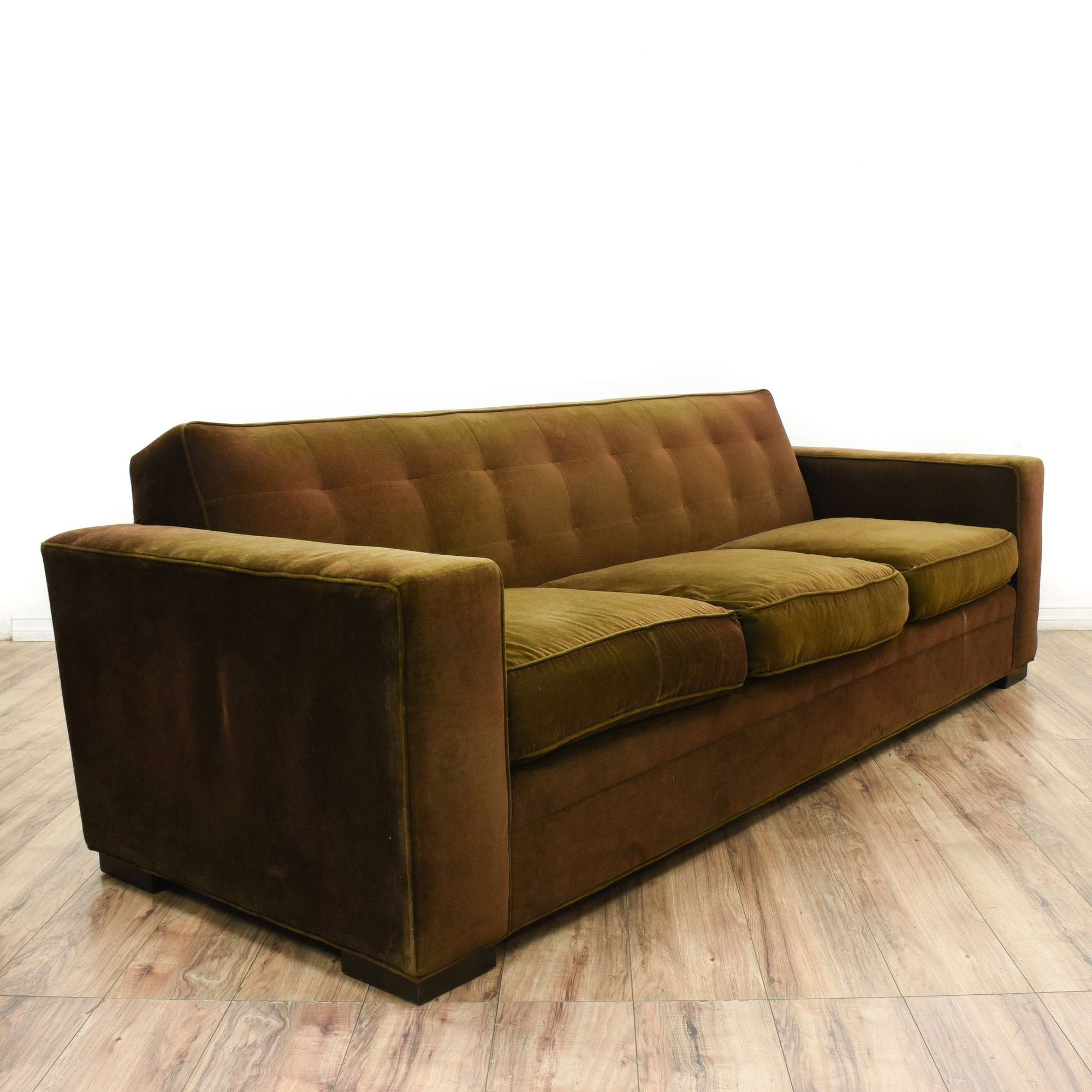 second leather loveseat and bobs com cushion brown s sofa furniture three hand bob off