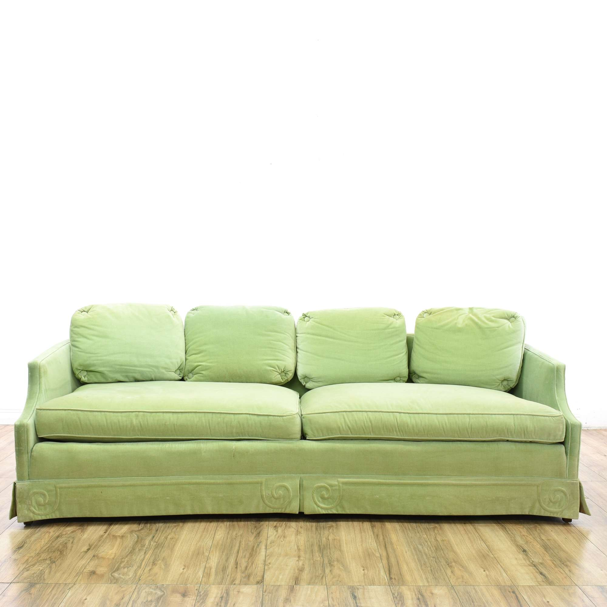 by knight shipping tufted overstock green product today free milani home christopher velvet garden scroll arm loveseat