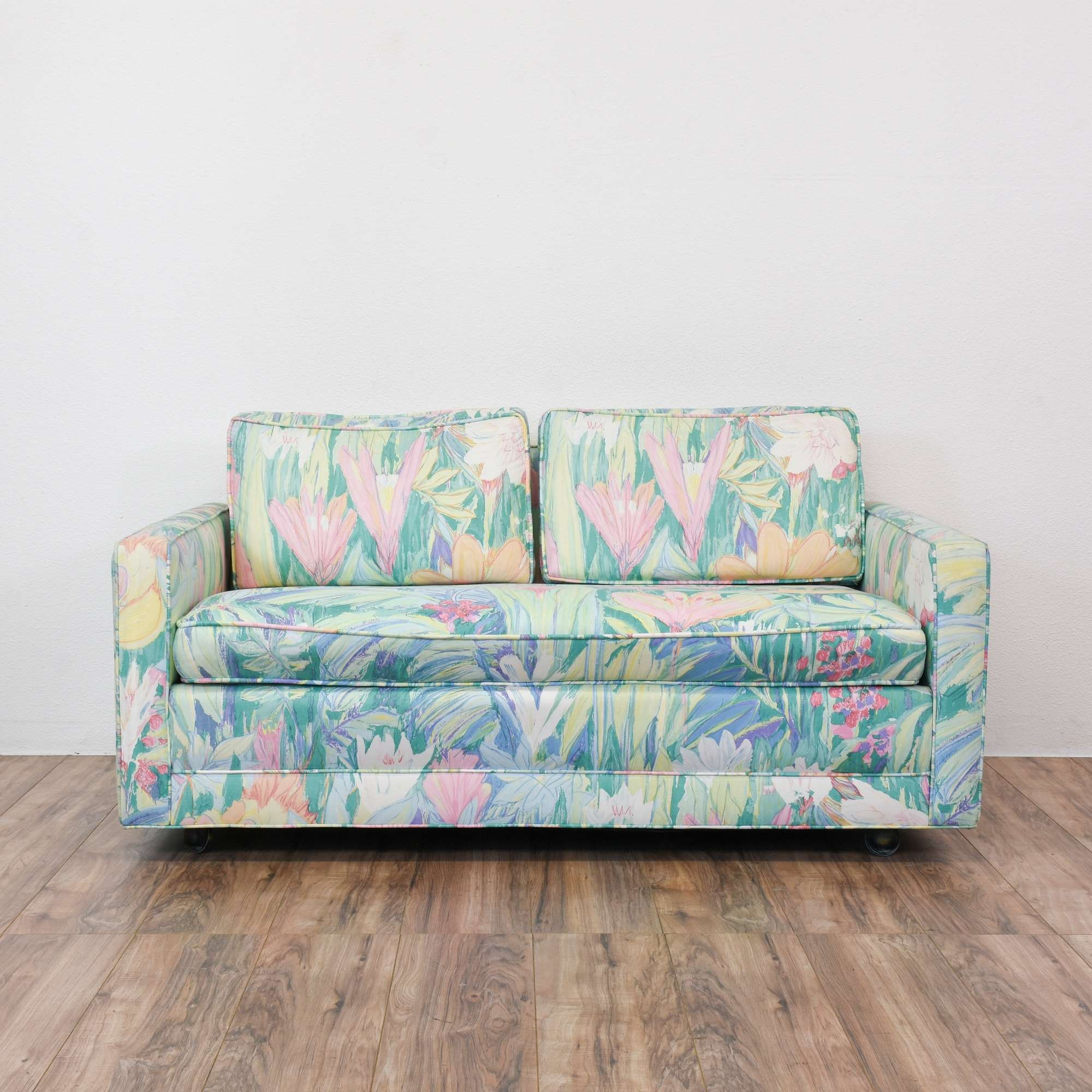 thomasville loveseats design vintage floral and loveseat sofa sofas furniture collectibles uhuru sold