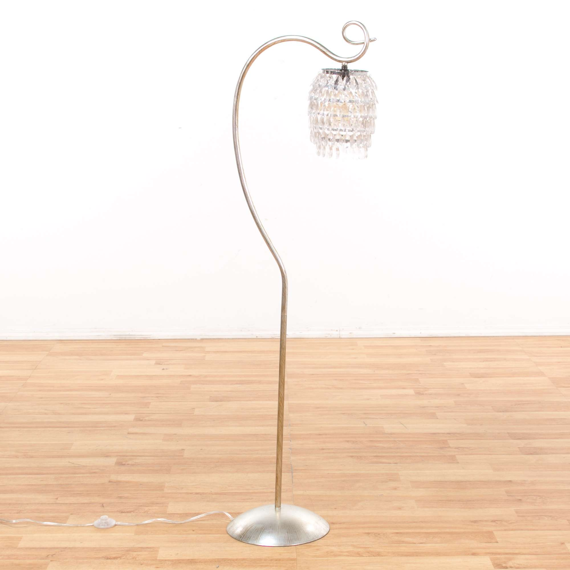 huge selection of 49c54 066fd Large Crystal Arc Floor Lamp | Loveseat Vintage Furniture ...
