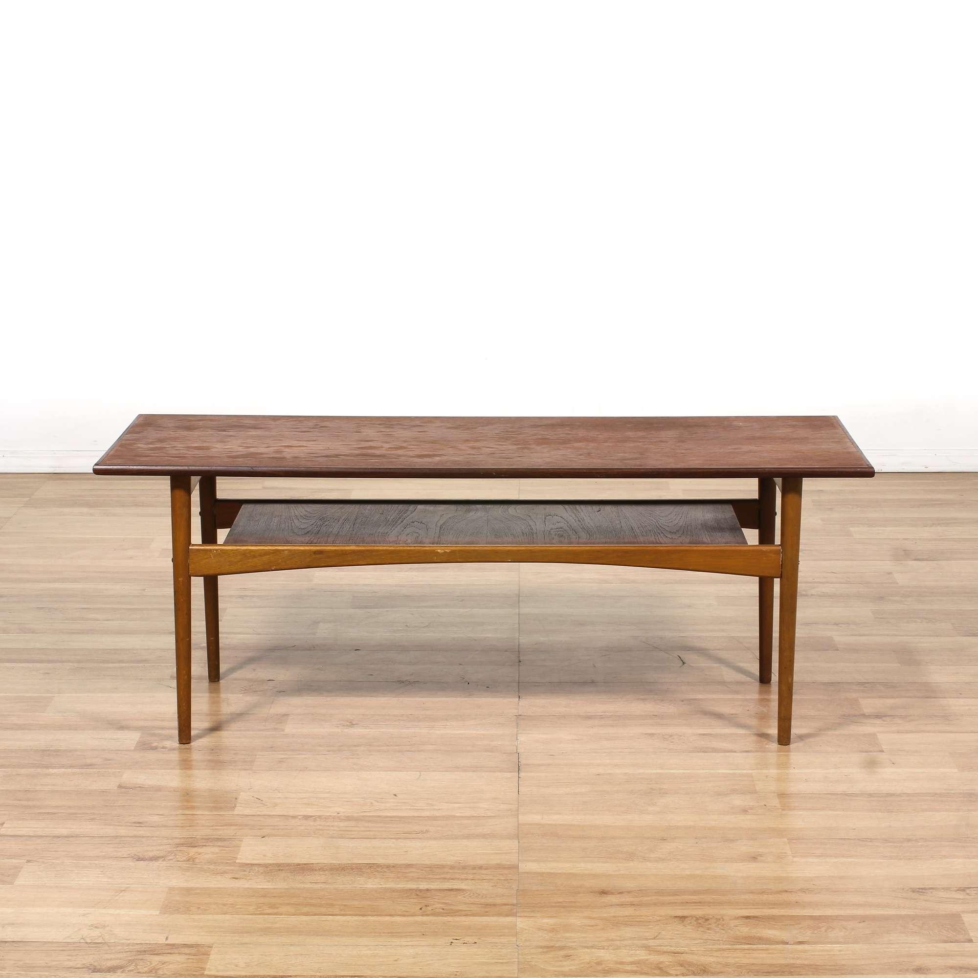 Surprising Danish Modern Coffee Table W Shelf Loveseat Vintage Uwap Interior Chair Design Uwaporg