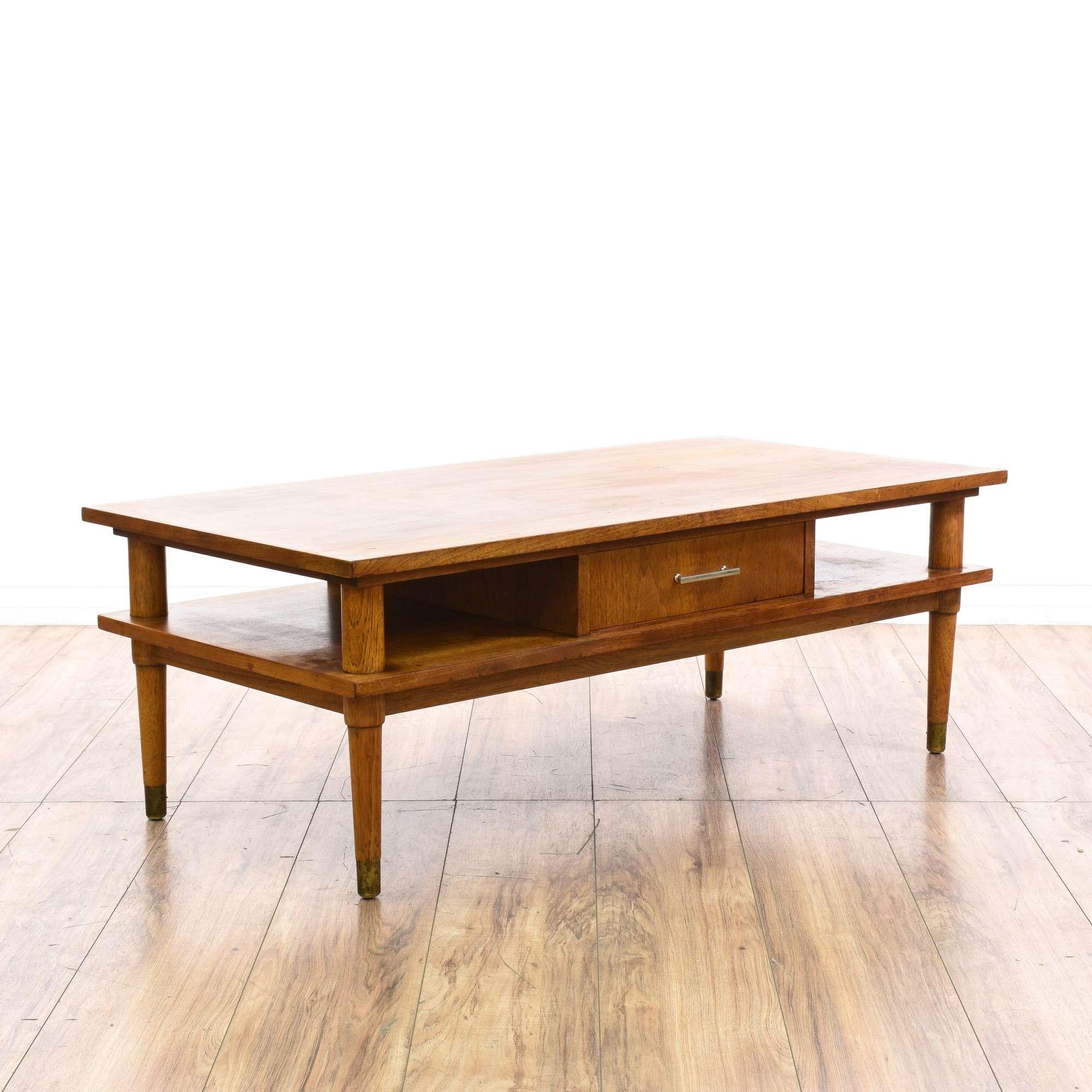 Drexel Biscayne Mid Century 2 Tier Coffee Table Loveseat Vintage Furniture San Diego