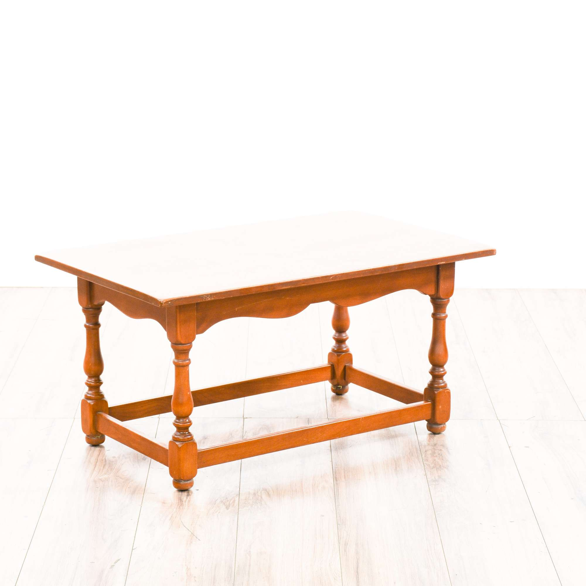 Whitney solid birch wood end table coffee table