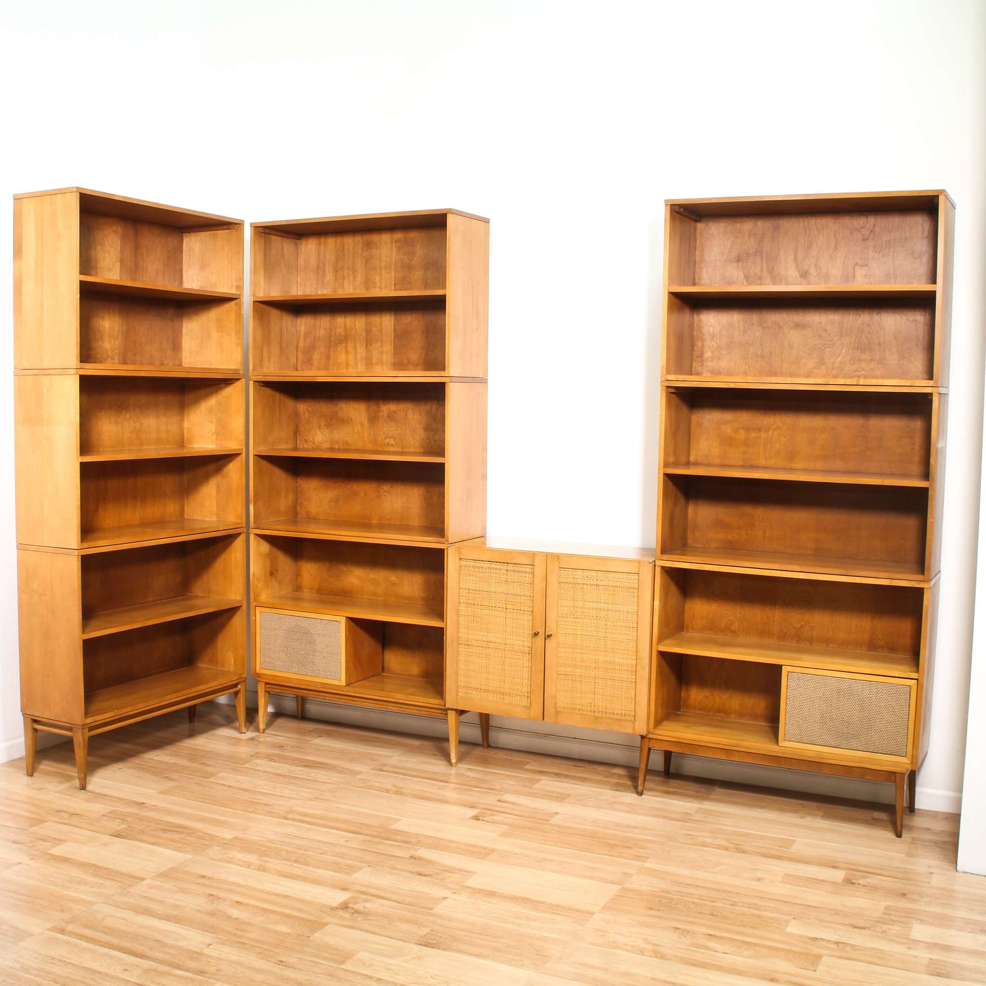 Paul Mccobb Suite Of Bookcases And Cabinet Loveseat