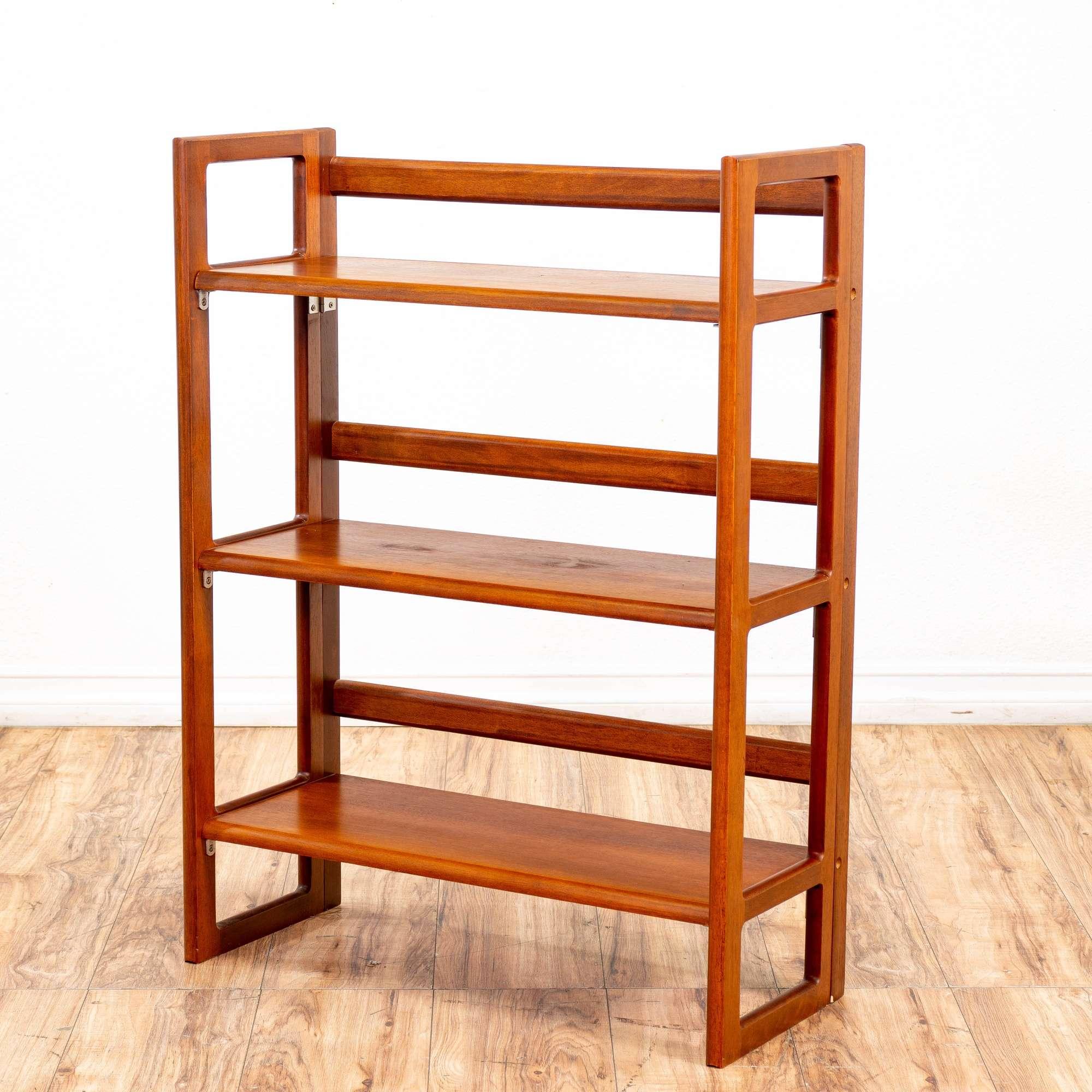 Apple Solid Wood Folding Bookcase 2 Loveseat Vintage