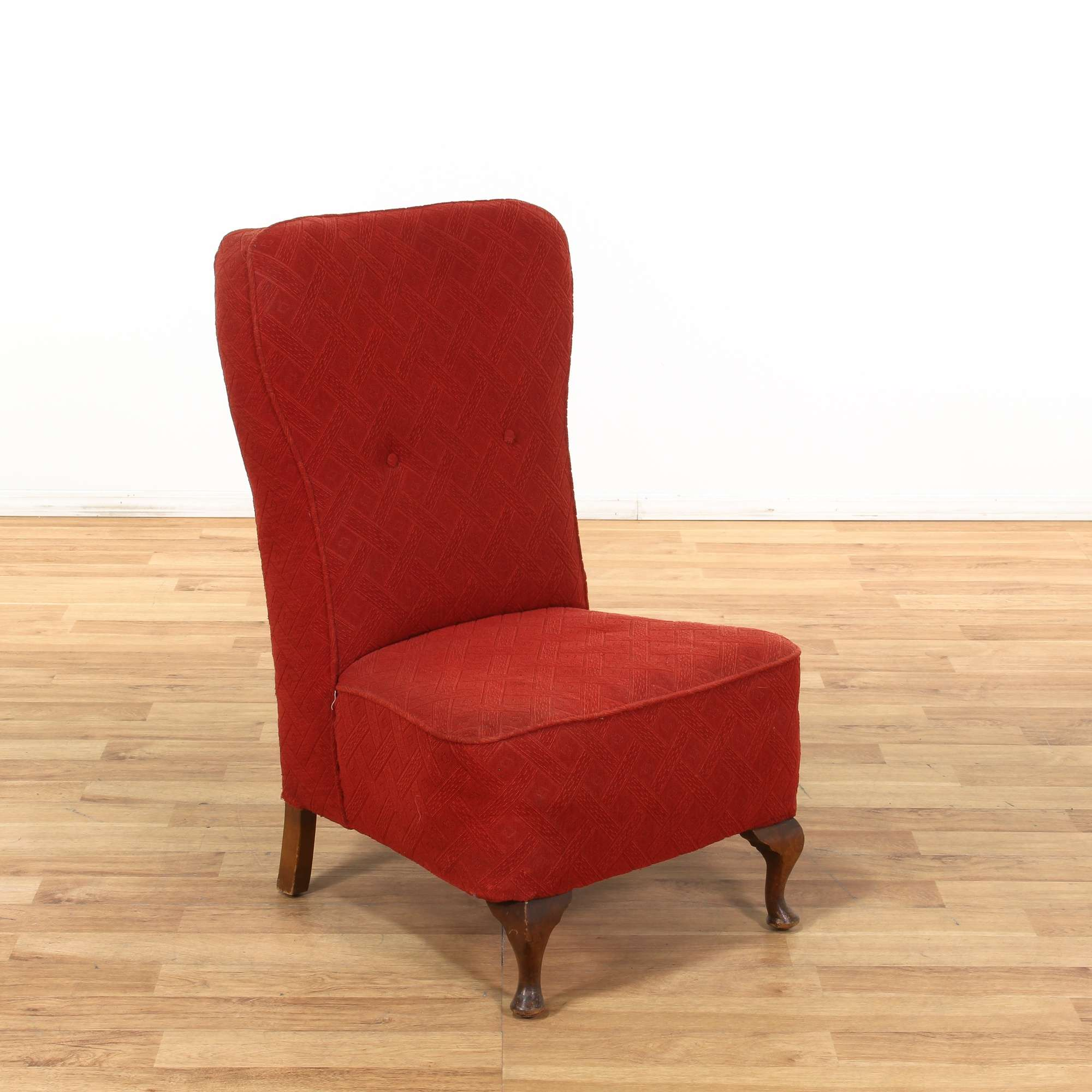 Incredible Red Horsehair Textured Accent Chair Loveseat Vintage Ibusinesslaw Wood Chair Design Ideas Ibusinesslaworg