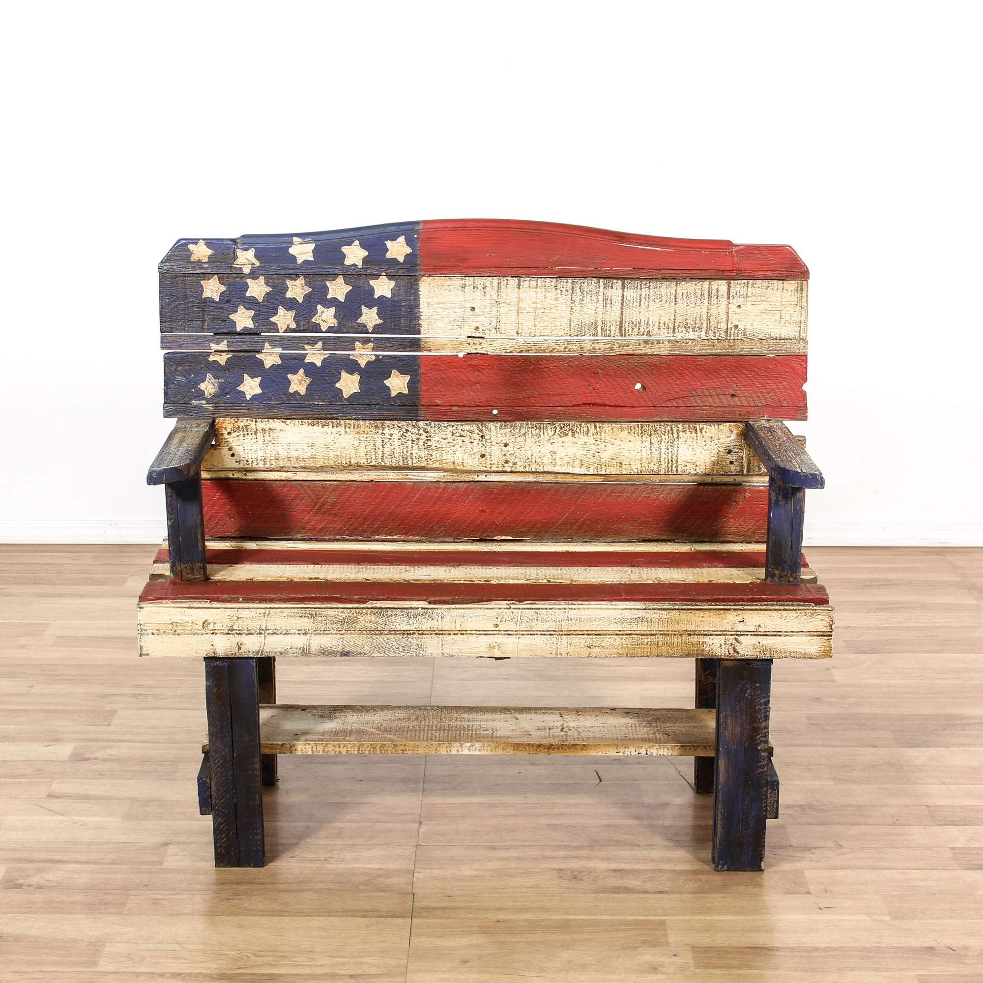 Distressed American Flag Coffee Table: Preferred American Flag Painted Furniture &ZR91