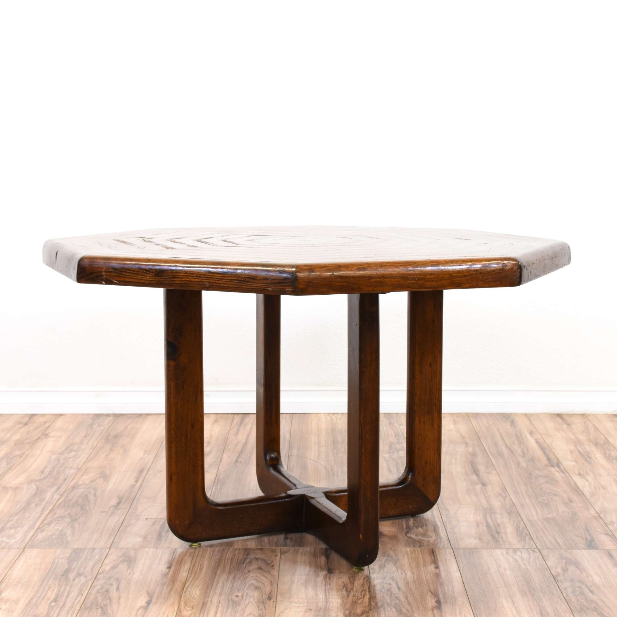 Eclectic Carved Octagon Dining Table
