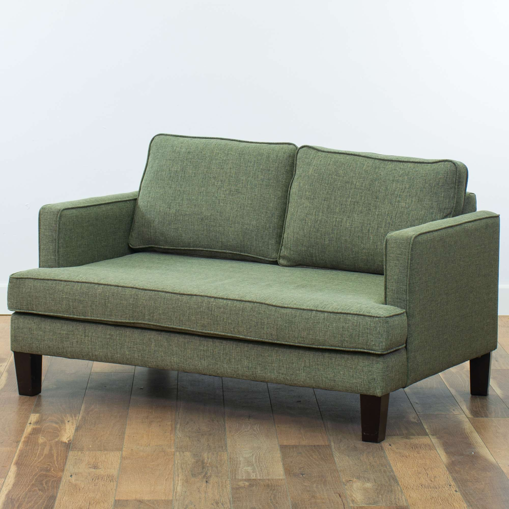 The Sofa Company Modern Green Grey Loveseat | Loveseat Vintage ...