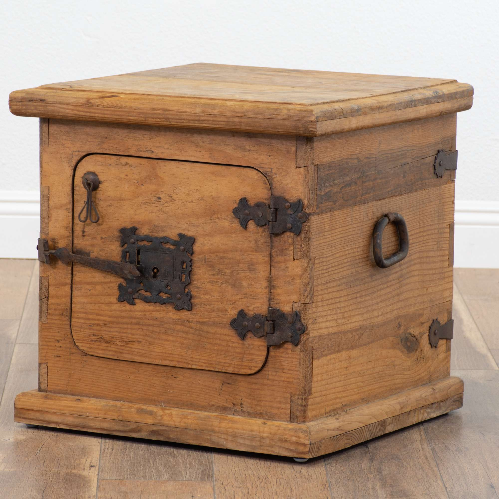 Rustic End Table Cabinet Made In Mexico